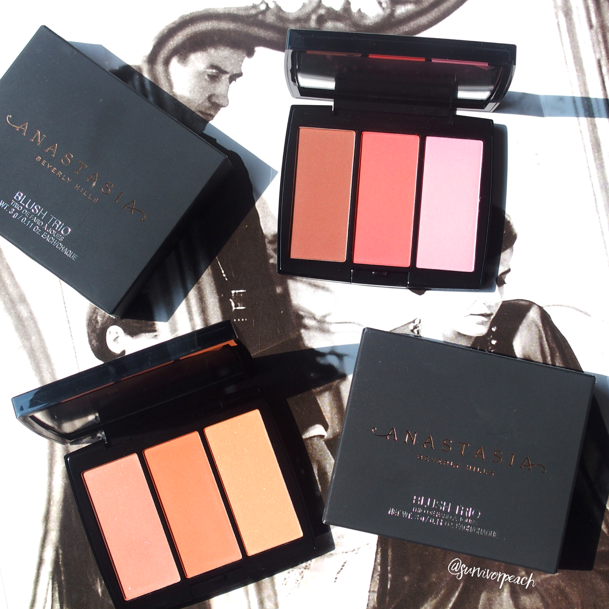 Anastasia Beverly Hills Blush Trio in Peachy Love and Cocktail Party