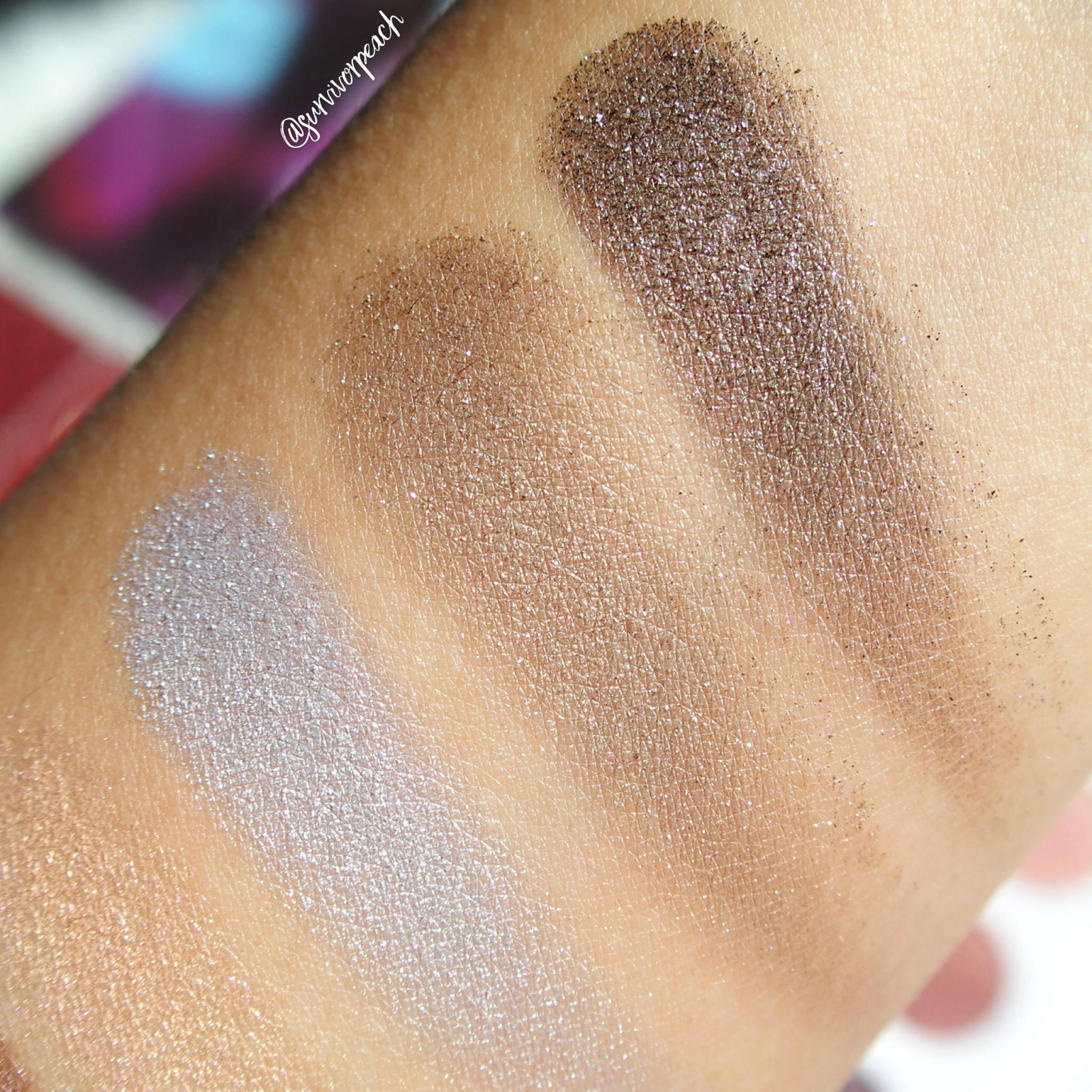 Zoeva Screen Queen Eyeshadow palette swatches