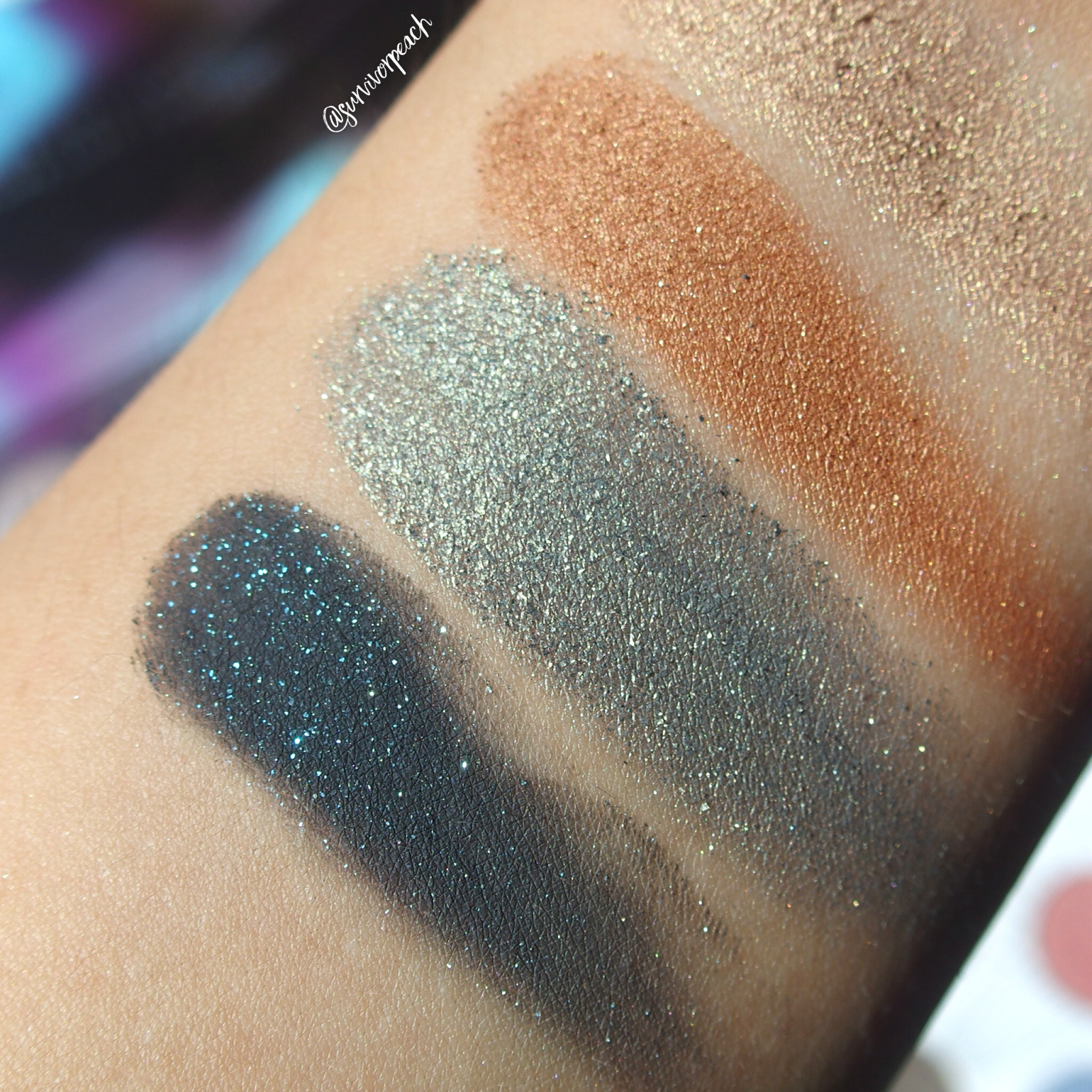 Zoeva Eclectric Eyes Eyeshadow palette swatches