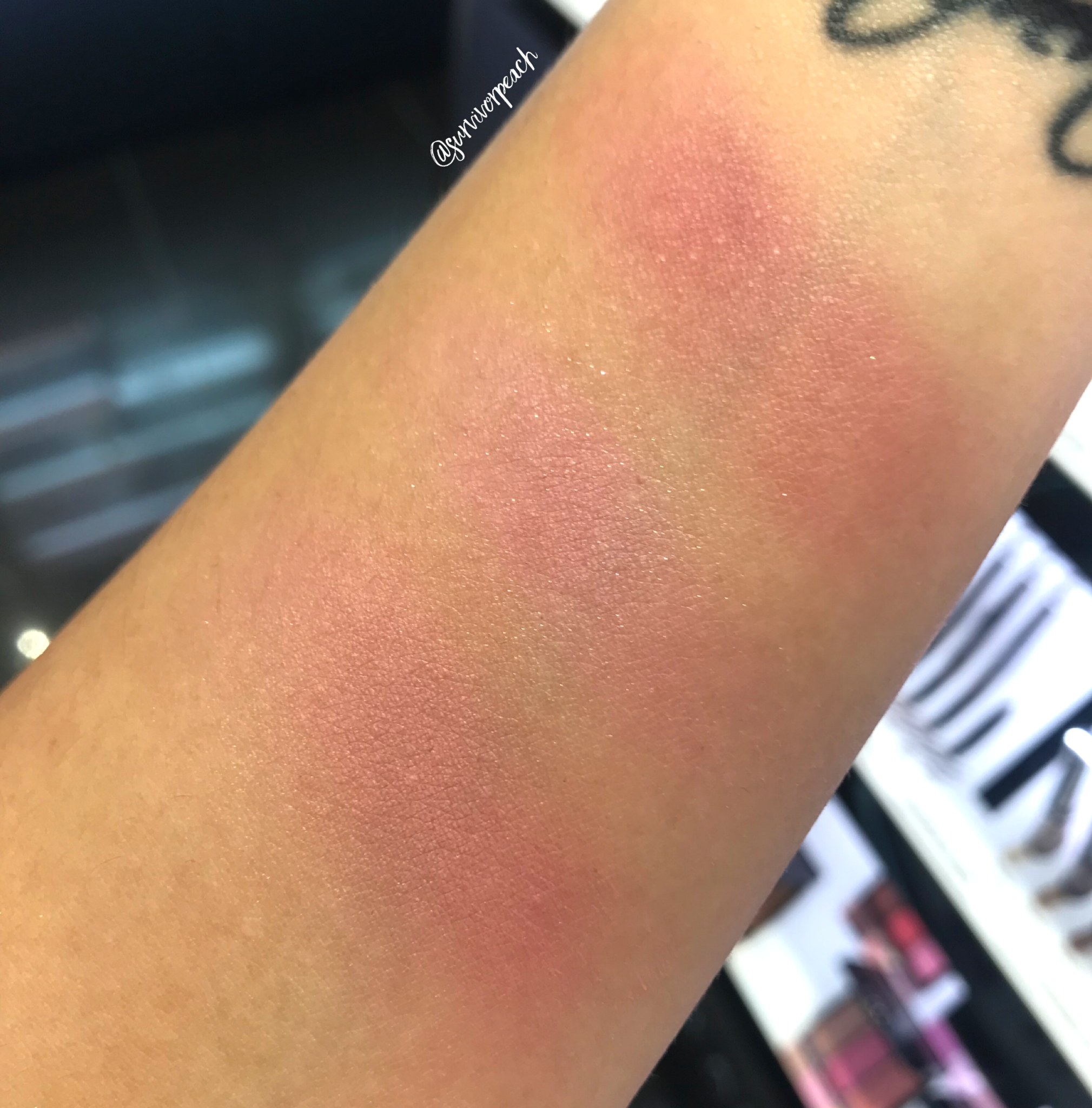 Swatches of the Anastasia Beverly Hills Blush Trio - Pink Passion