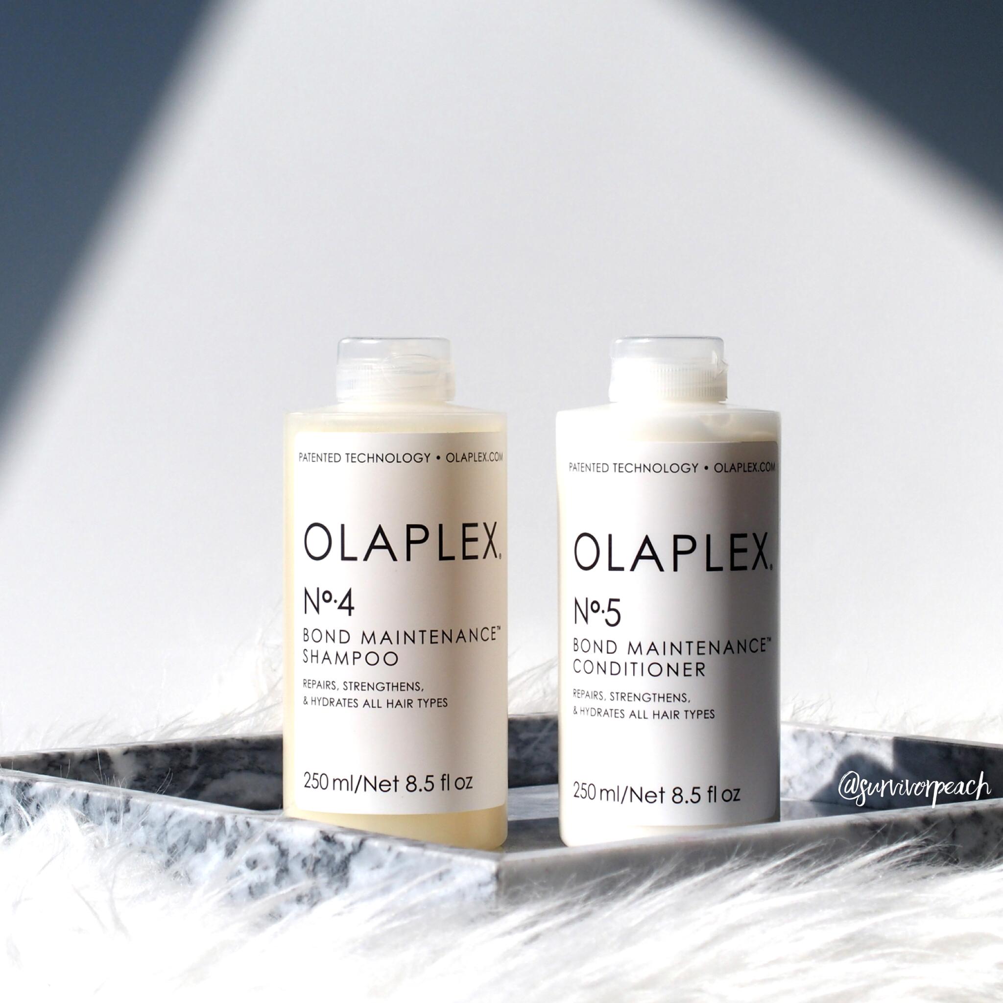 Olaplex No.4 Bond Maintenance Shampoo, No.5 Bond Maintenance Conditioner
