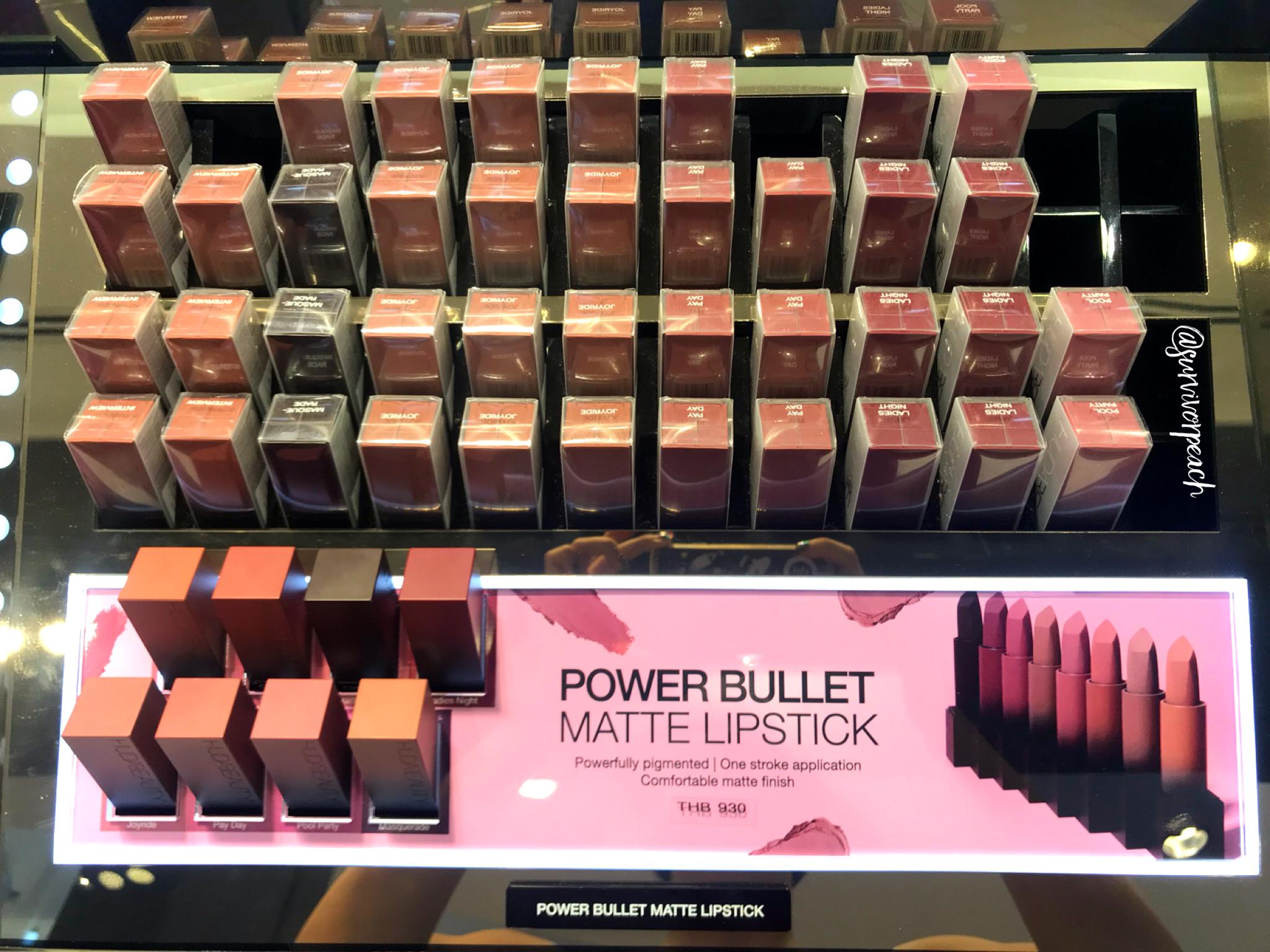 Huda Beauty Power Bullet Matte Lipsticks