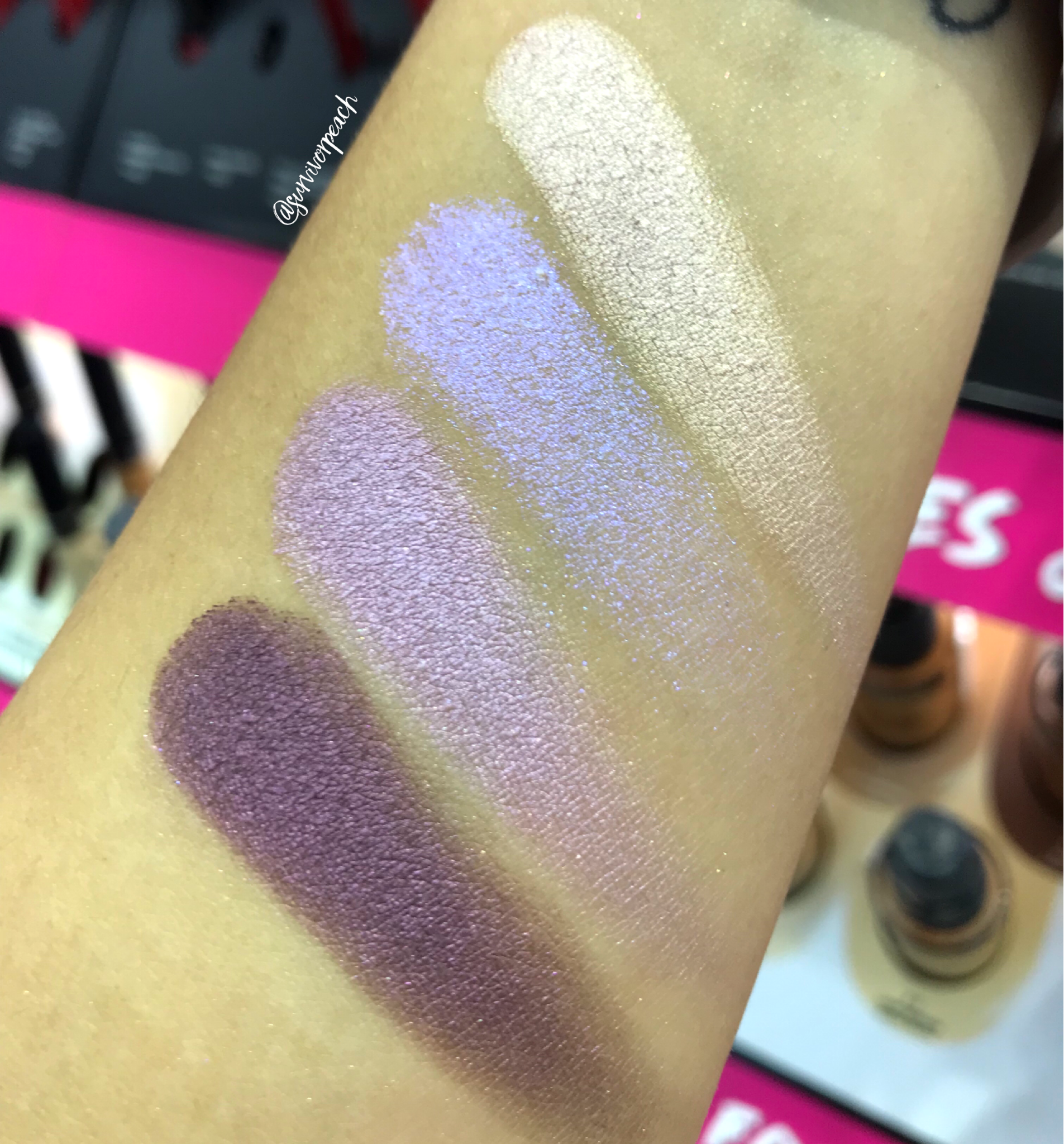 Swatches of the Smashbox Cover Shot Palette - Prism