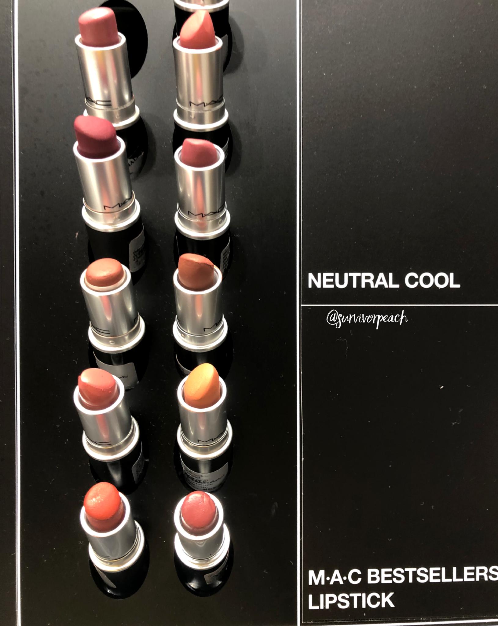 Mac naturally you Collection lipsticks - cool