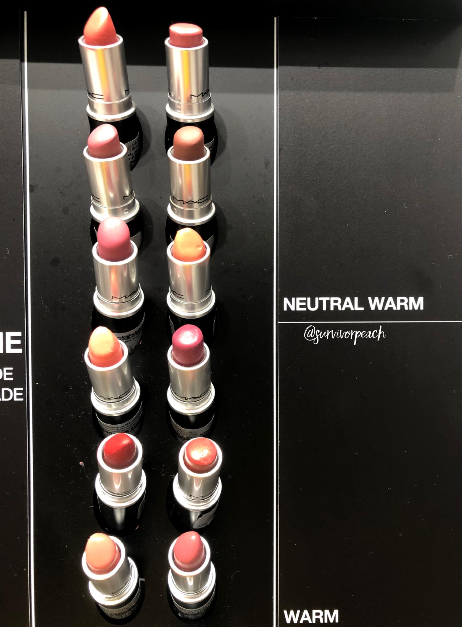 Mac naturally you Collection lipsticks - warm