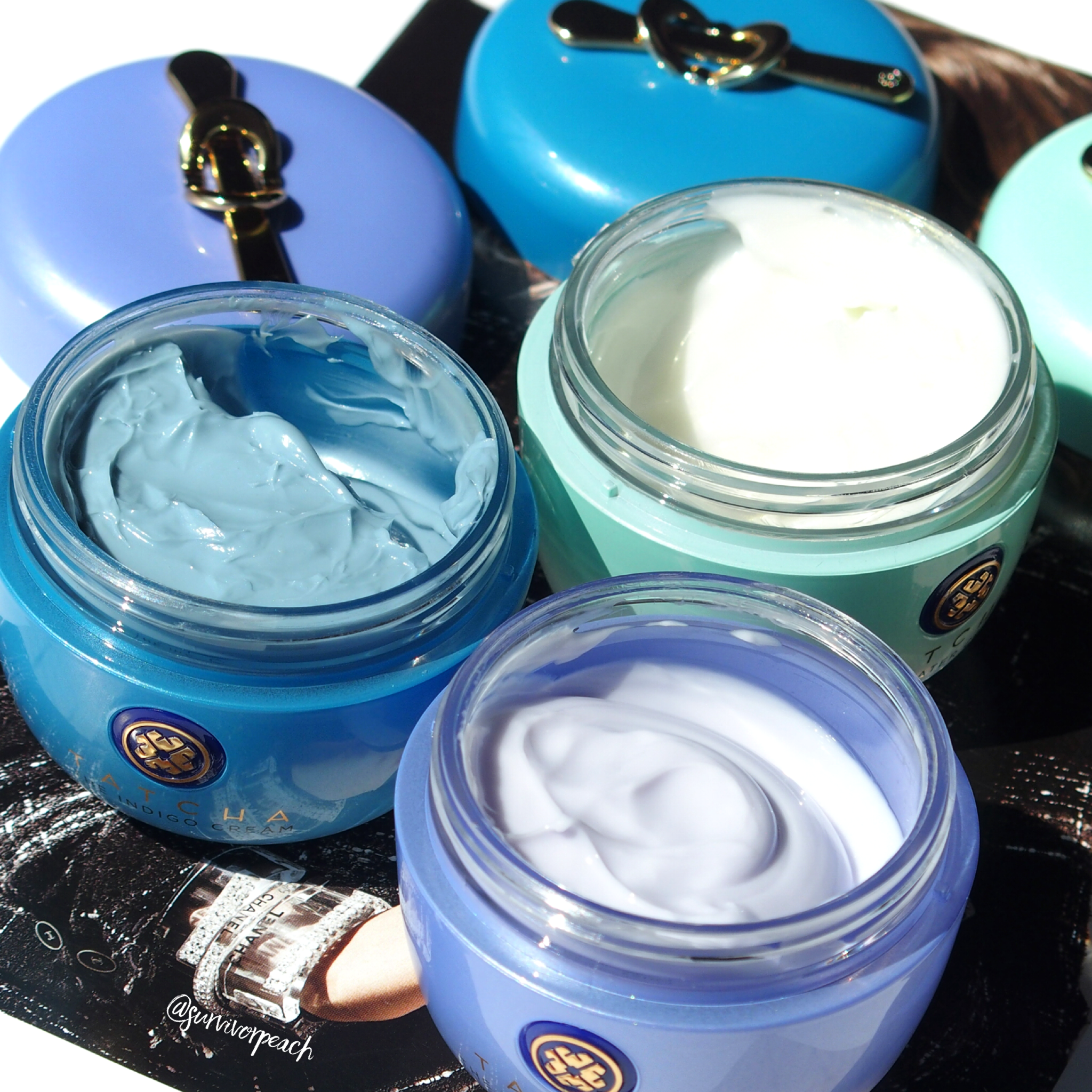 Tatcha Creams : The Water Cream, the Dewy Skin Cream, the Indigo Cream