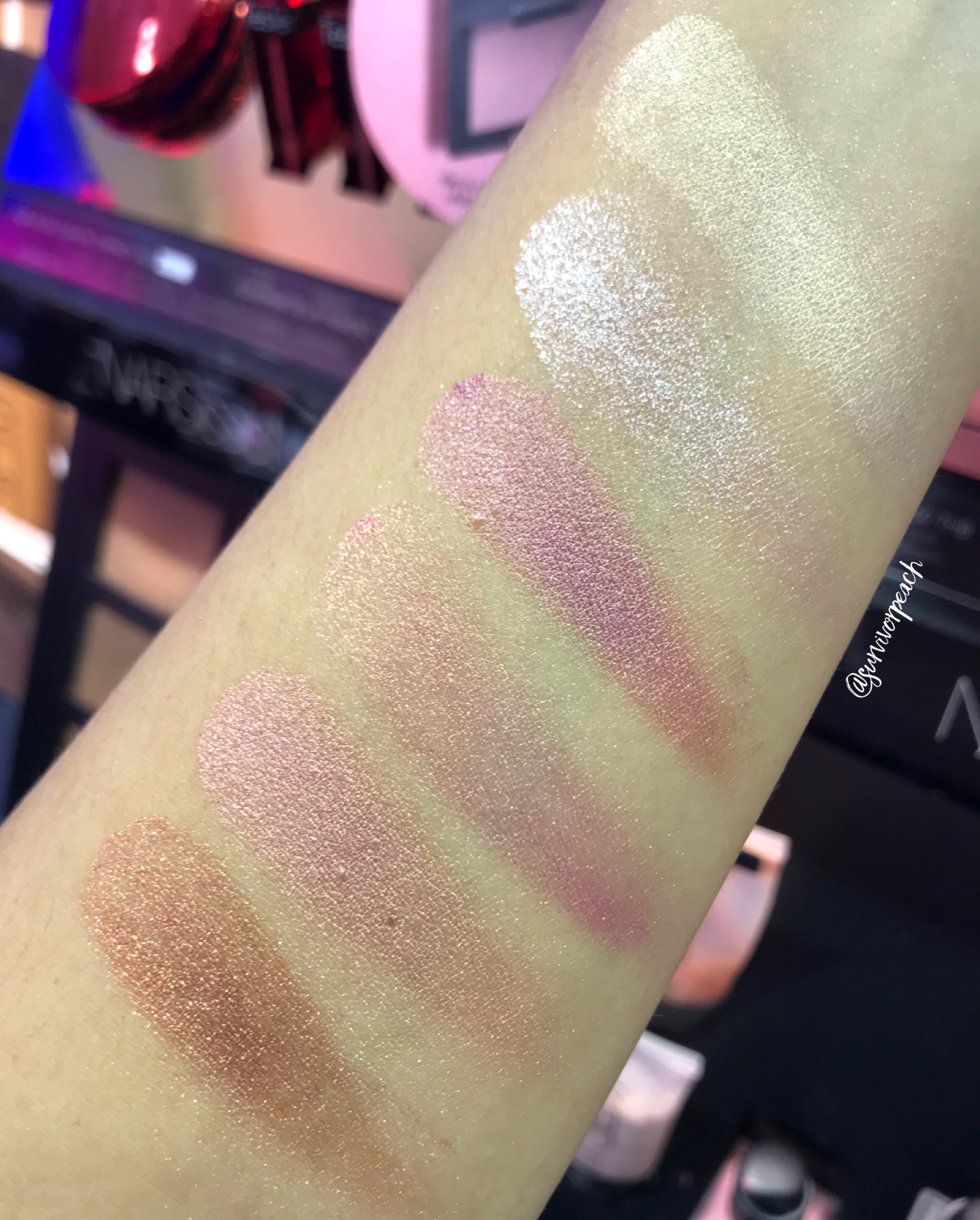 Nars Endless Orgasm Palette swatches