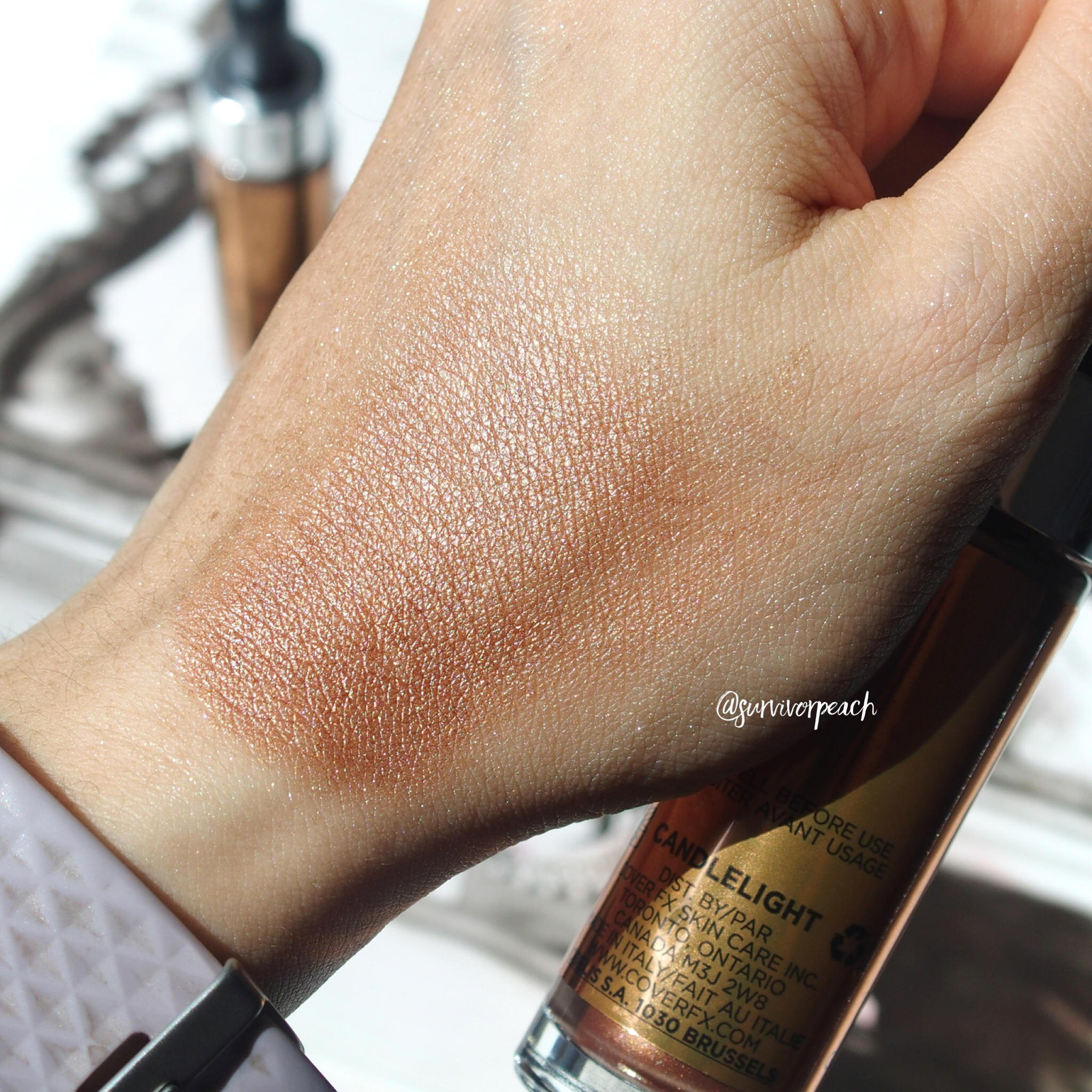 Cover FX Custom Enhancer Drops Candlelight swatches