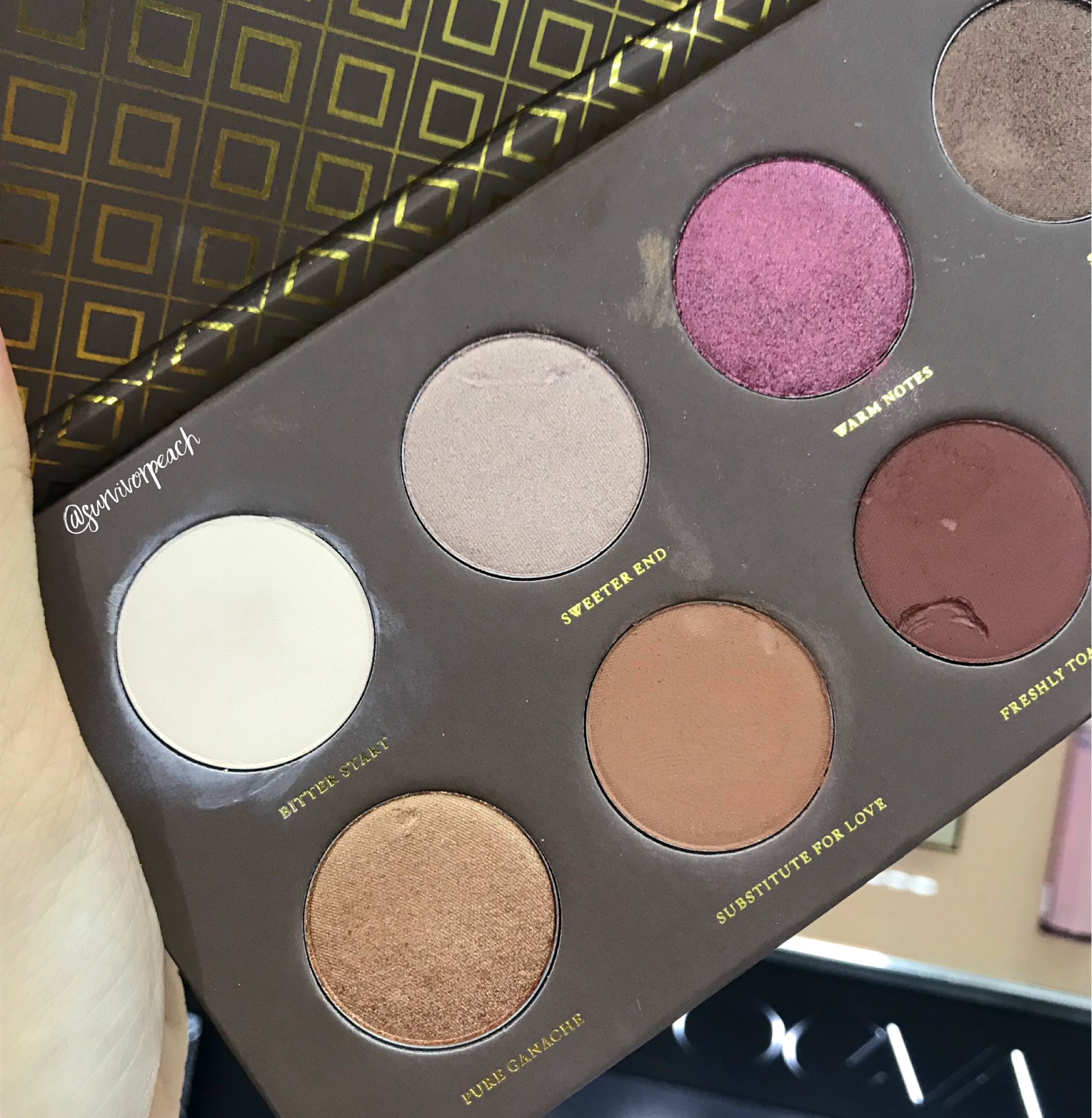 Zoeva Rose Golden Eyeshadow Palette swatches