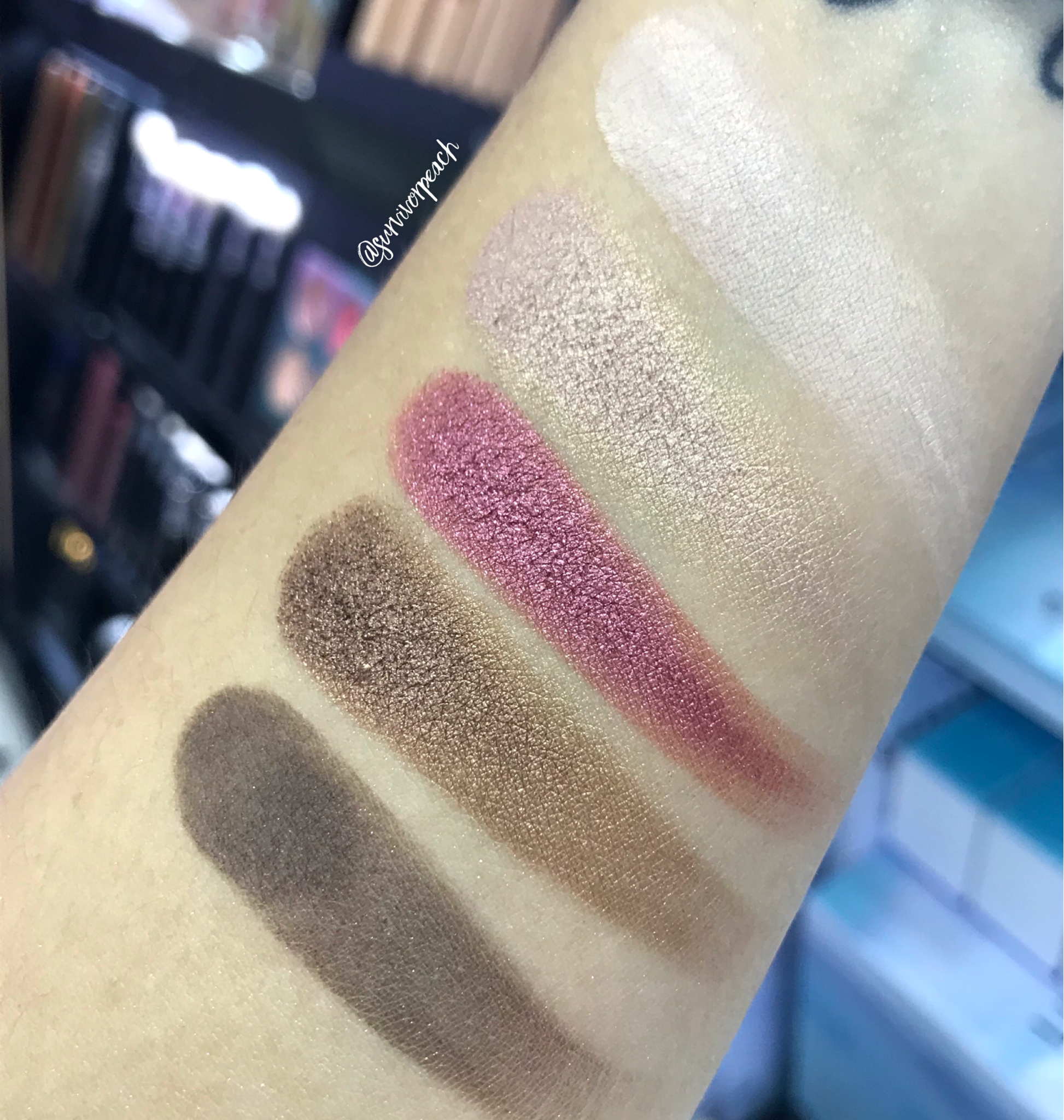 Zoeva Cocoa Blend Eyeshadow Palette swatches