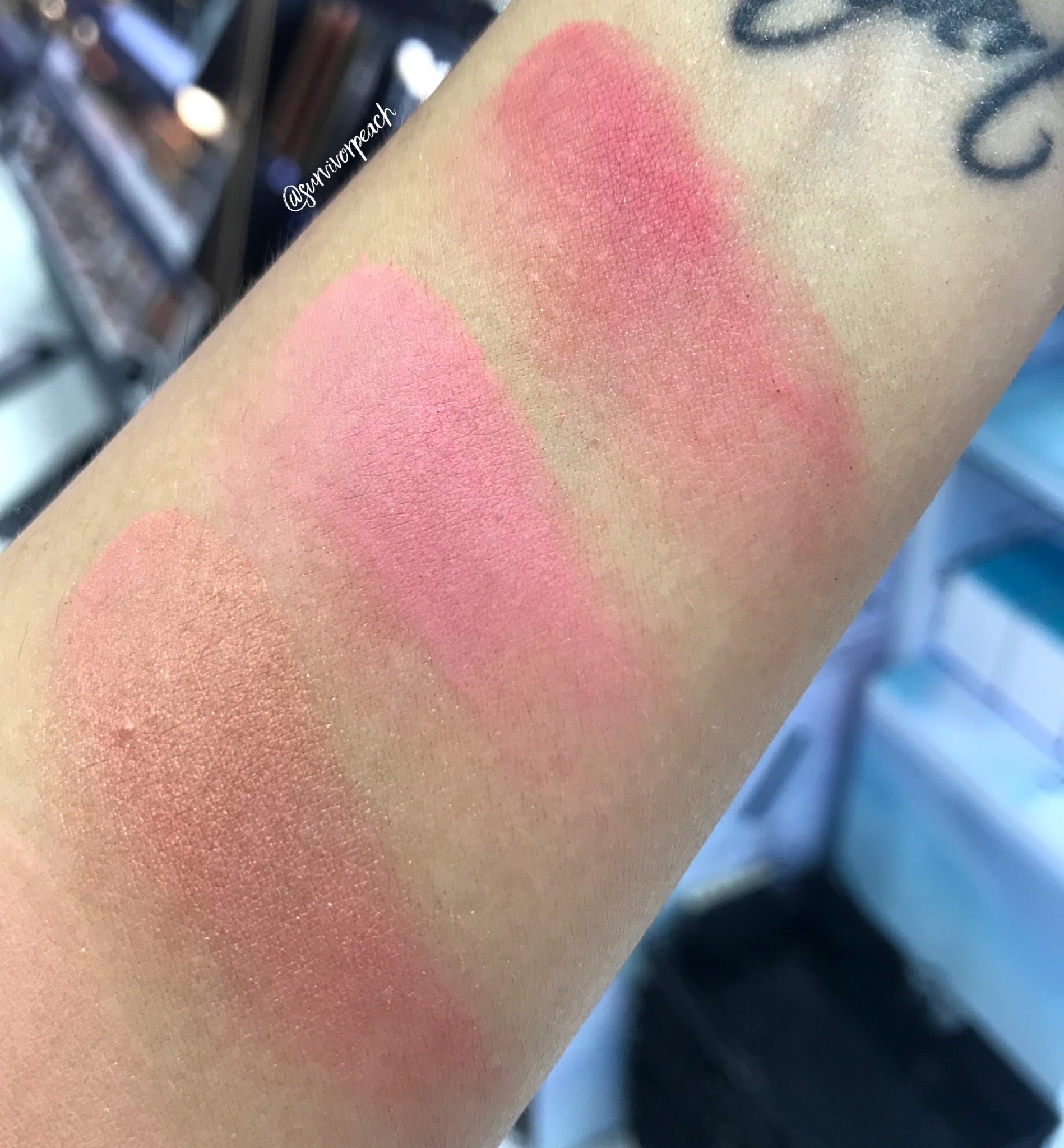 Zoeva Coral Spectrum Blush Palette swatches