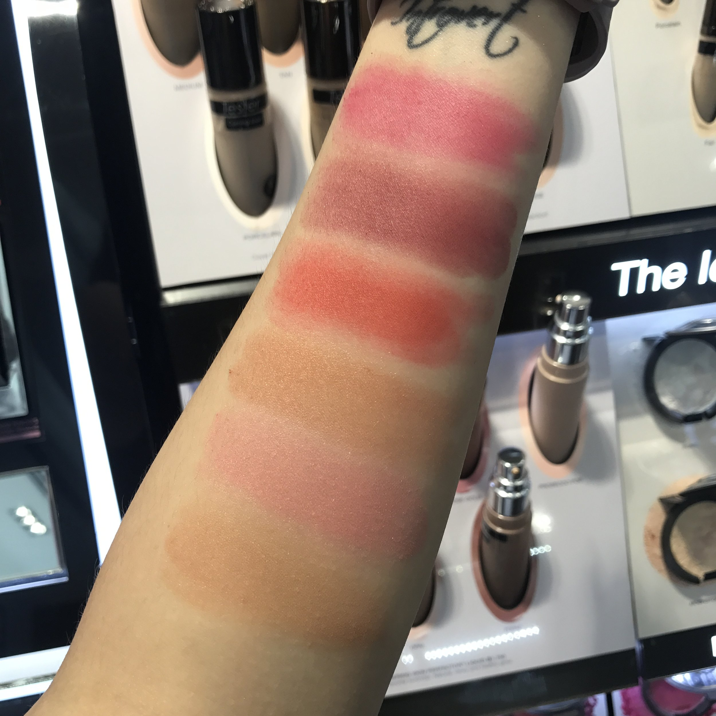 Becca Mineral Blush swatches