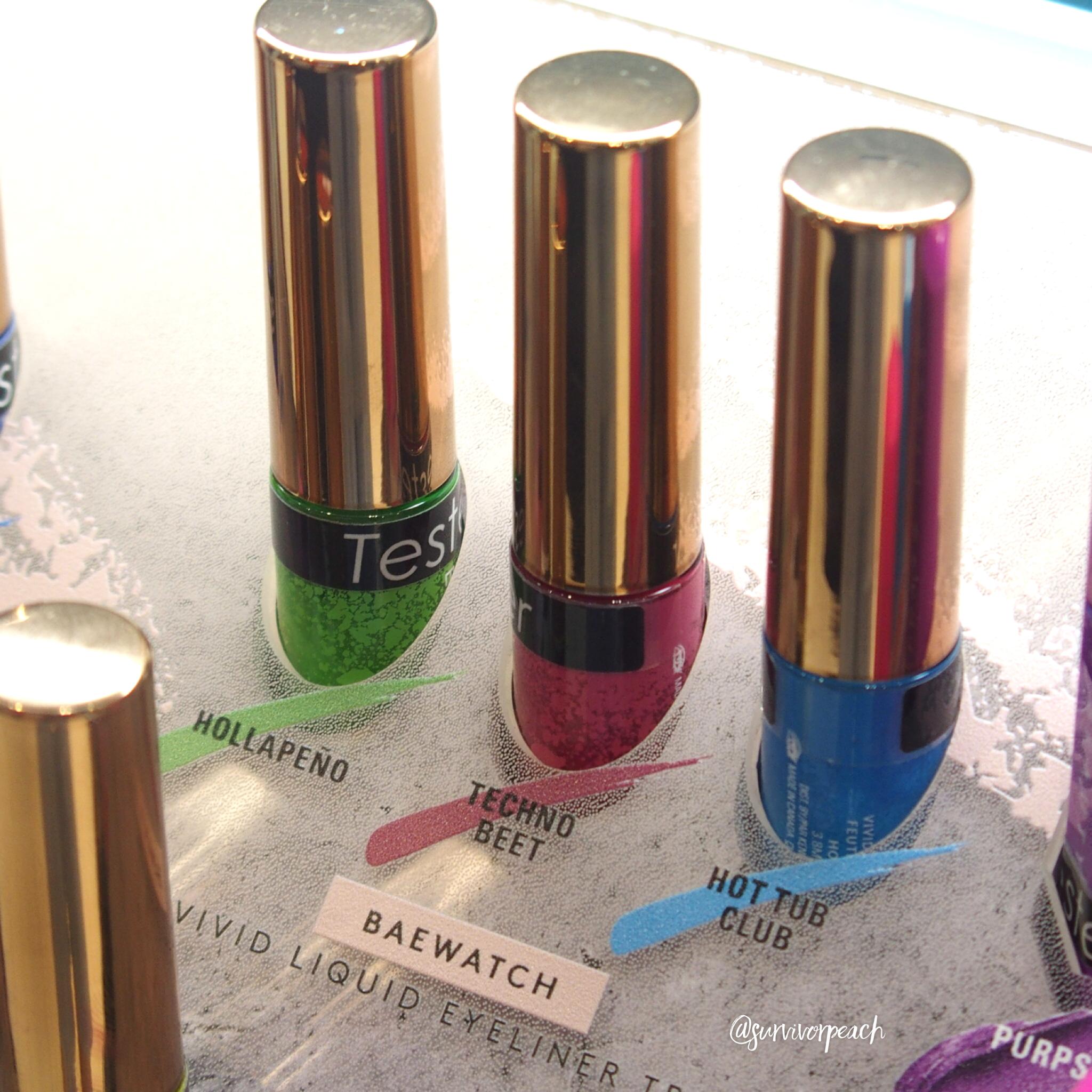 Fenty Beauty Vivid Liquid Eyeliner Trio - Baewatch: Hollapend, Techno Beet, Hot Tub Club