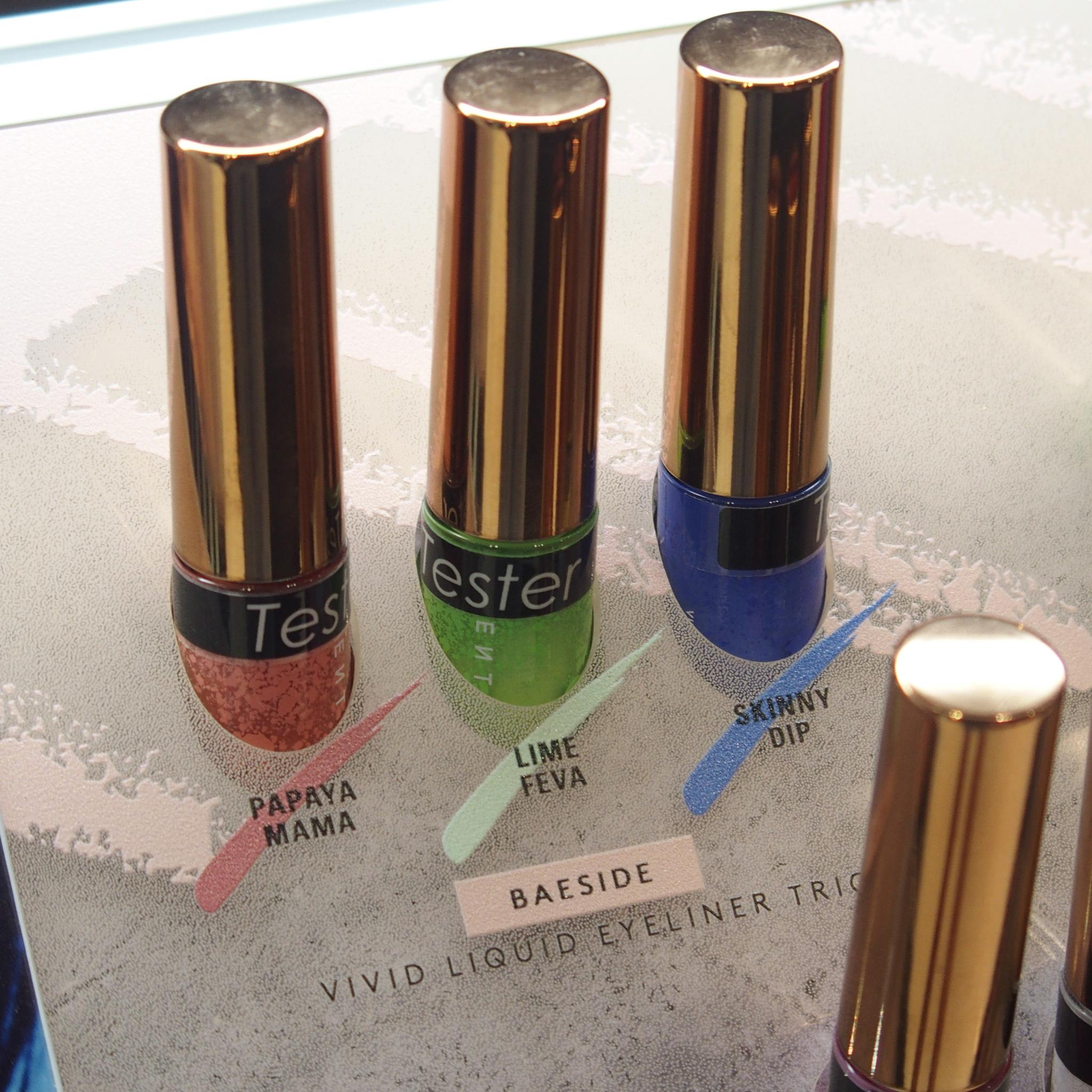 Fenty Beauty Vivid Liquid Eyeliner Trio - Baeside: Papaya Mama, Lime Feva, SKinny Dip