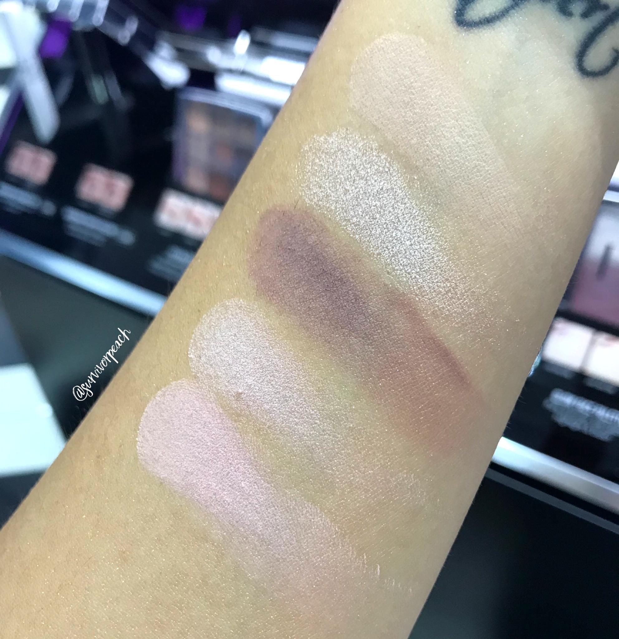 Dior Backstage Eyeshadow palette - Cool Neutrals swatches
