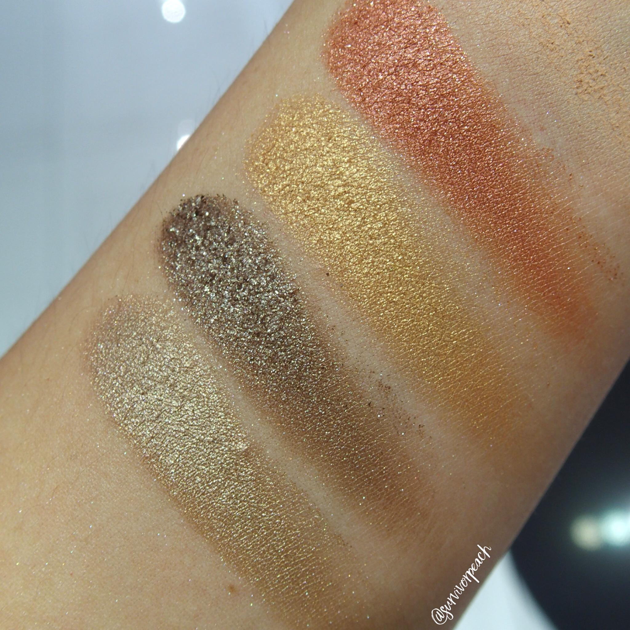 Sephora Collection Flash Sequins Eyeshadow Palette 01 Peach Gold swatches