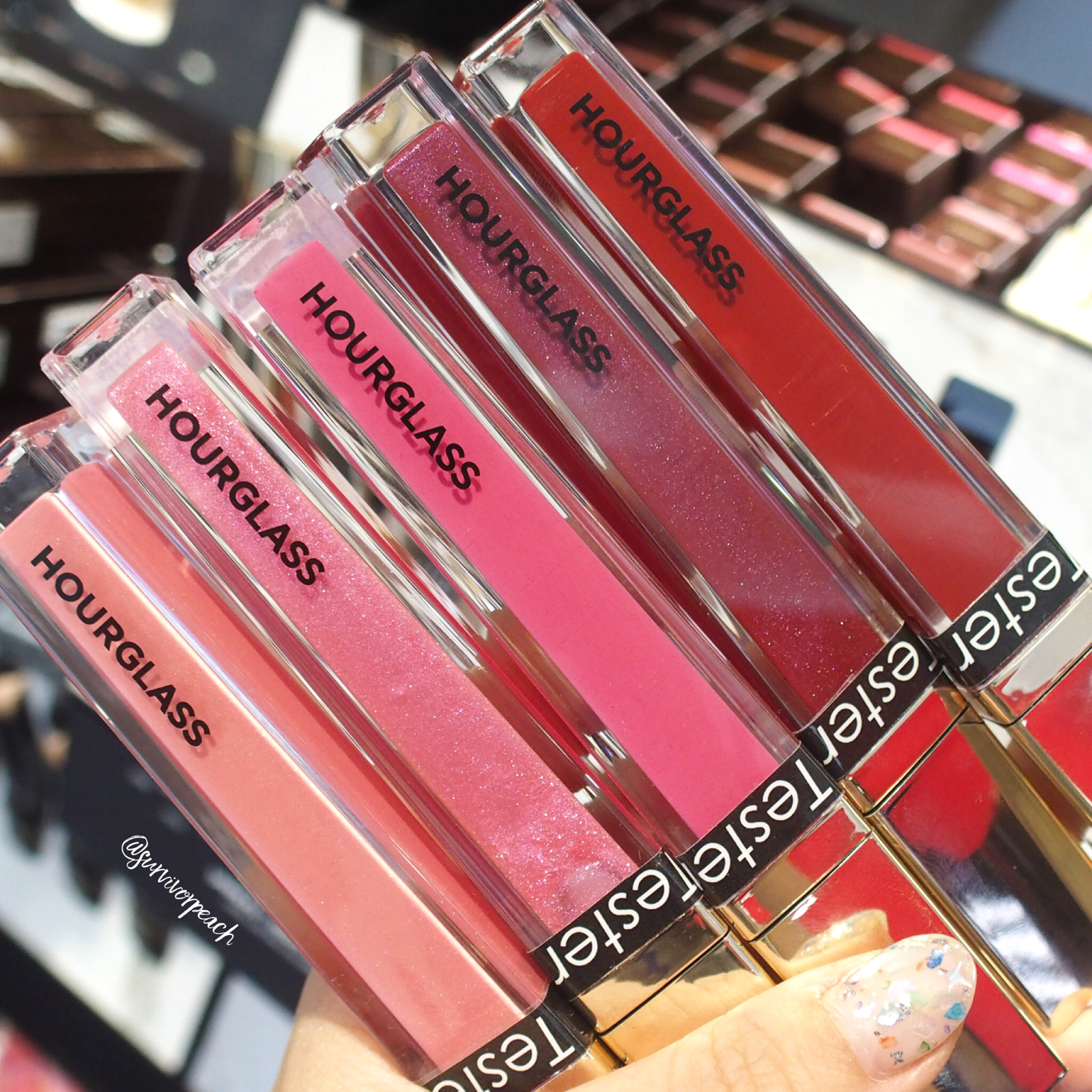 Hourglass Unreal High Shine Voluming Lipgloss: Fortune, Cosmic, Fever, Impact, Icon