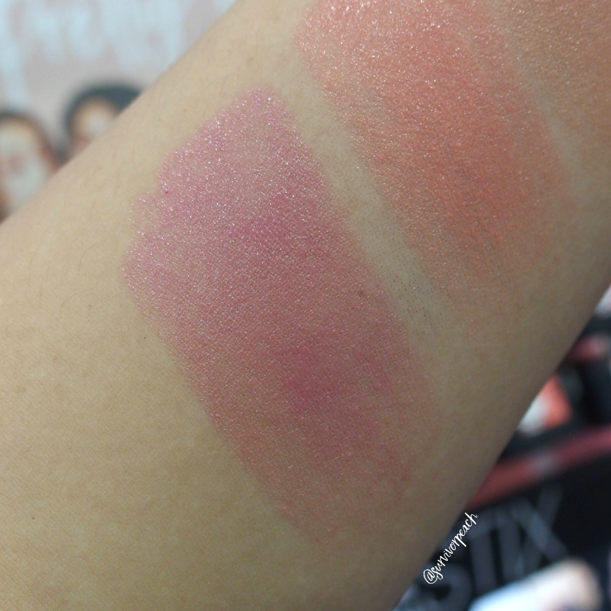 Nudestix Nudies Bloom swatches- Cherry Blossom Babe