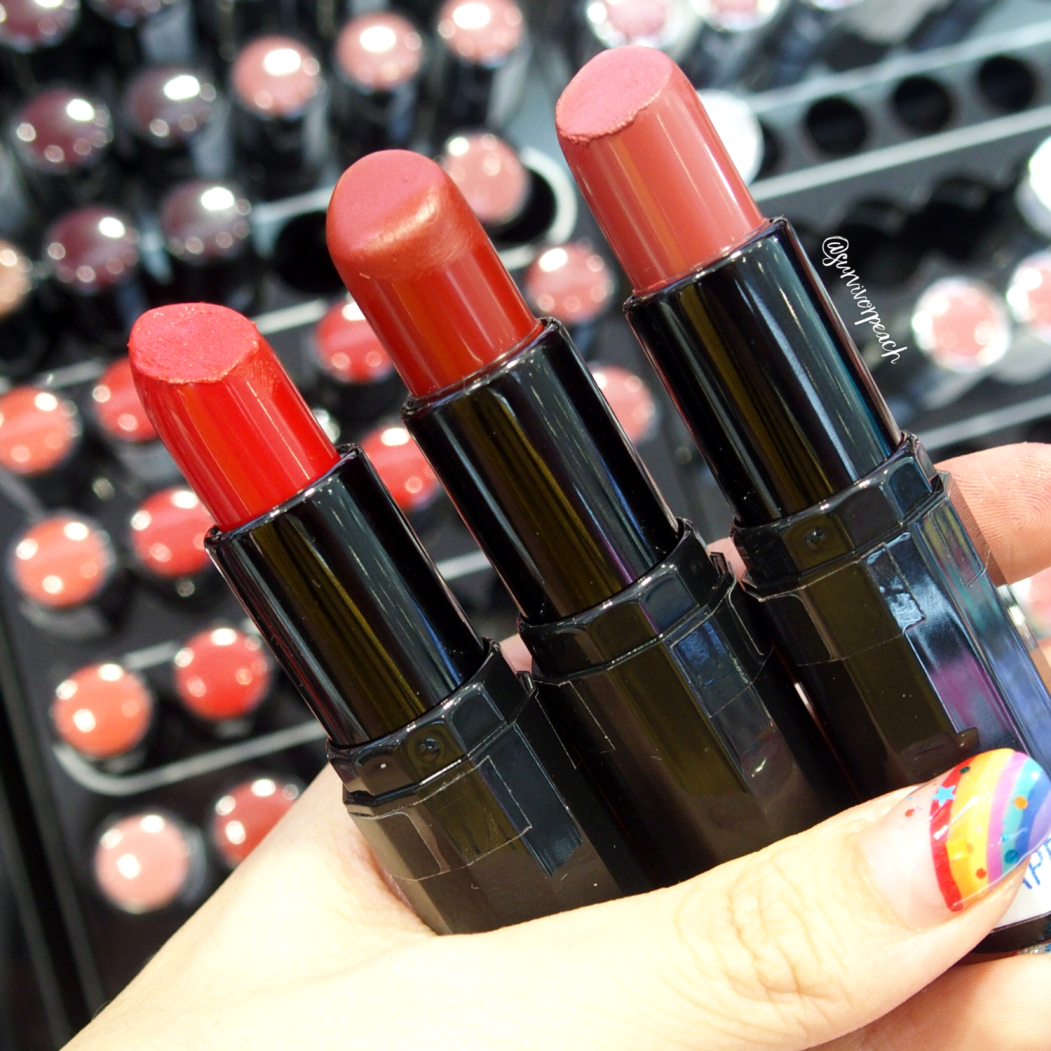 Sephora Collection Rouge Satin Lipstick - S12 On My Way, S13 Feeling Free, S18 Oh Oh!