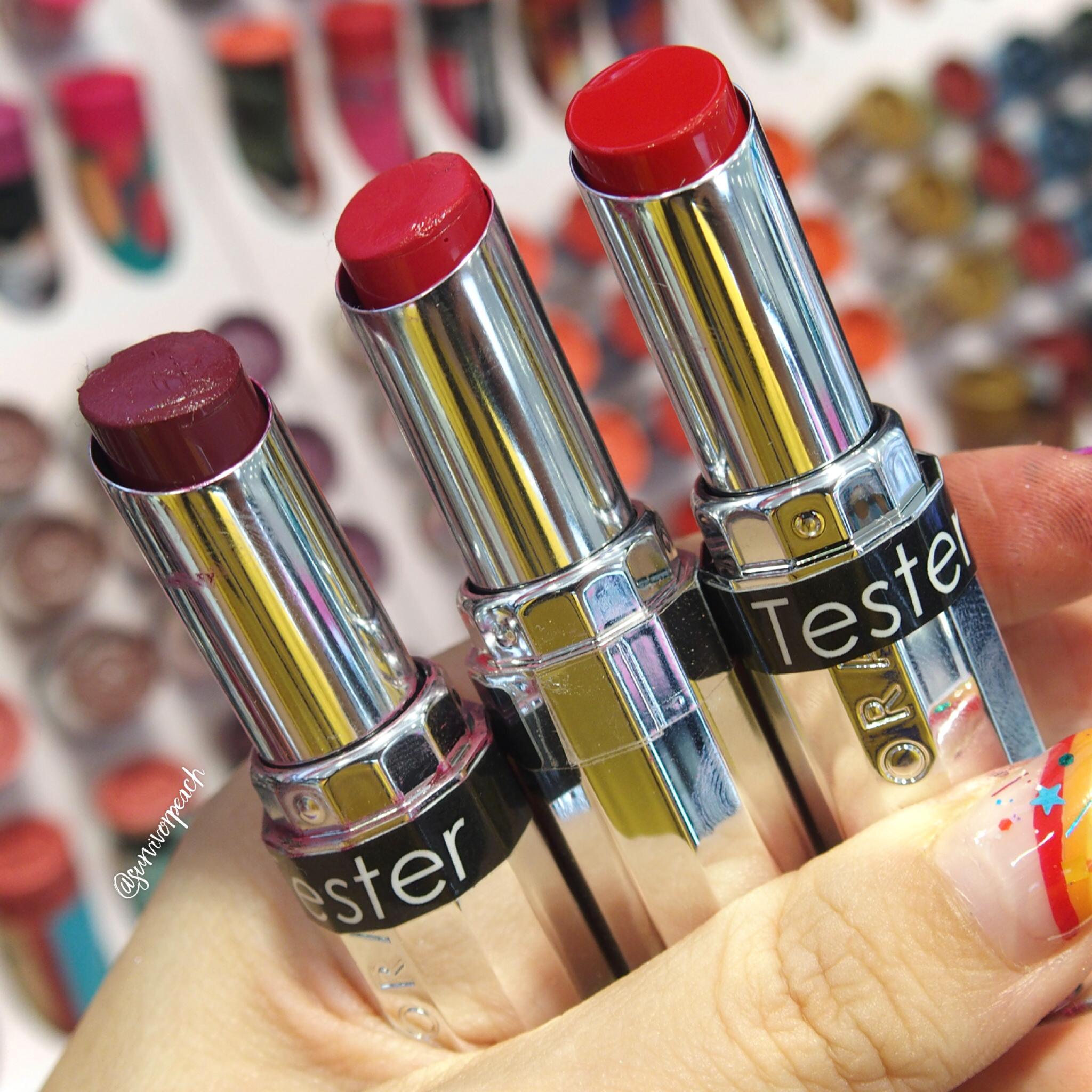 Sephora Collection Lipstick Rouge Lacquer Lipstick - L08 Hear Me Roar, L09 Love Wins, L10 Survivor