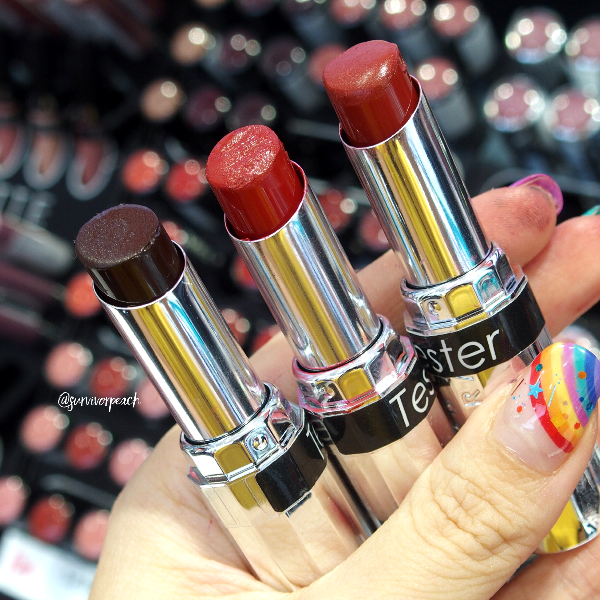 Sephora Collection Lipstick Rouge Lacquer Lipstick - L01 Power Suit, L02 Wicked Smart, L04 Empowered