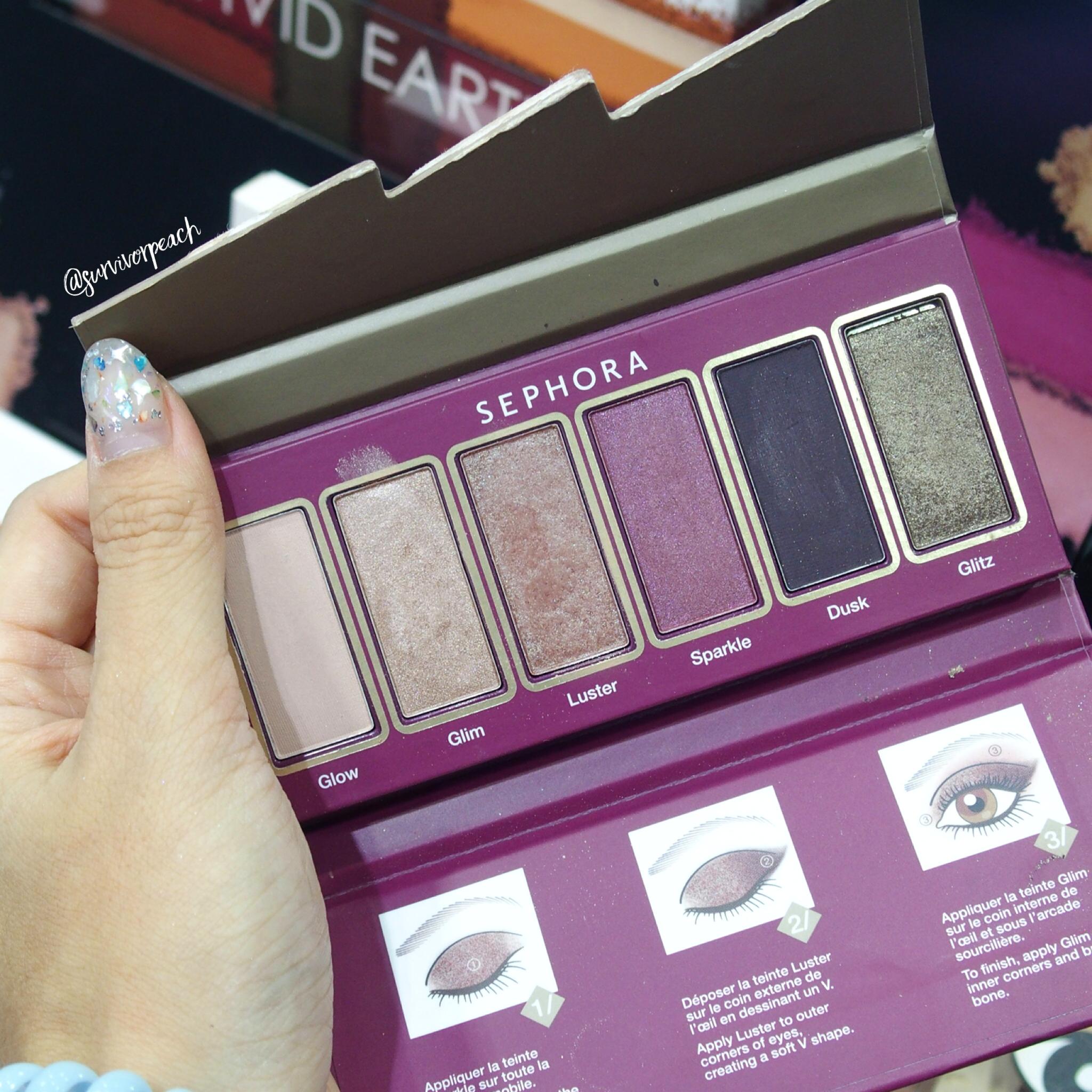 Sephora Collection Flash Sequins Eyeshadow Palette 02 Brown-Purple