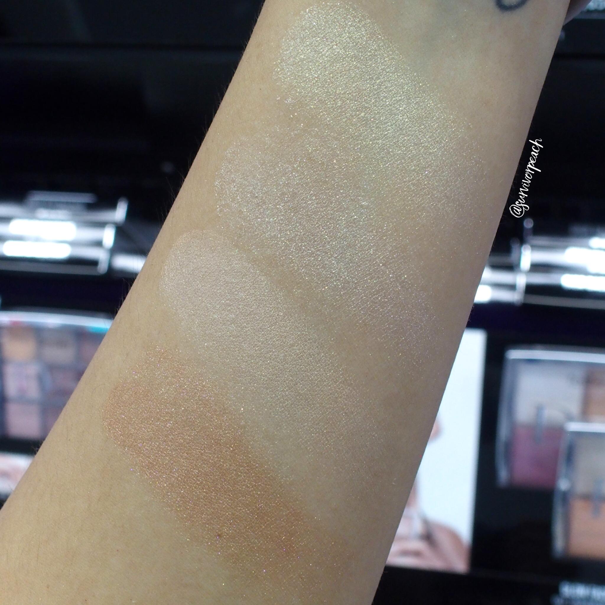Dior Backstage Glow Face Palette 002 Glitz swatches