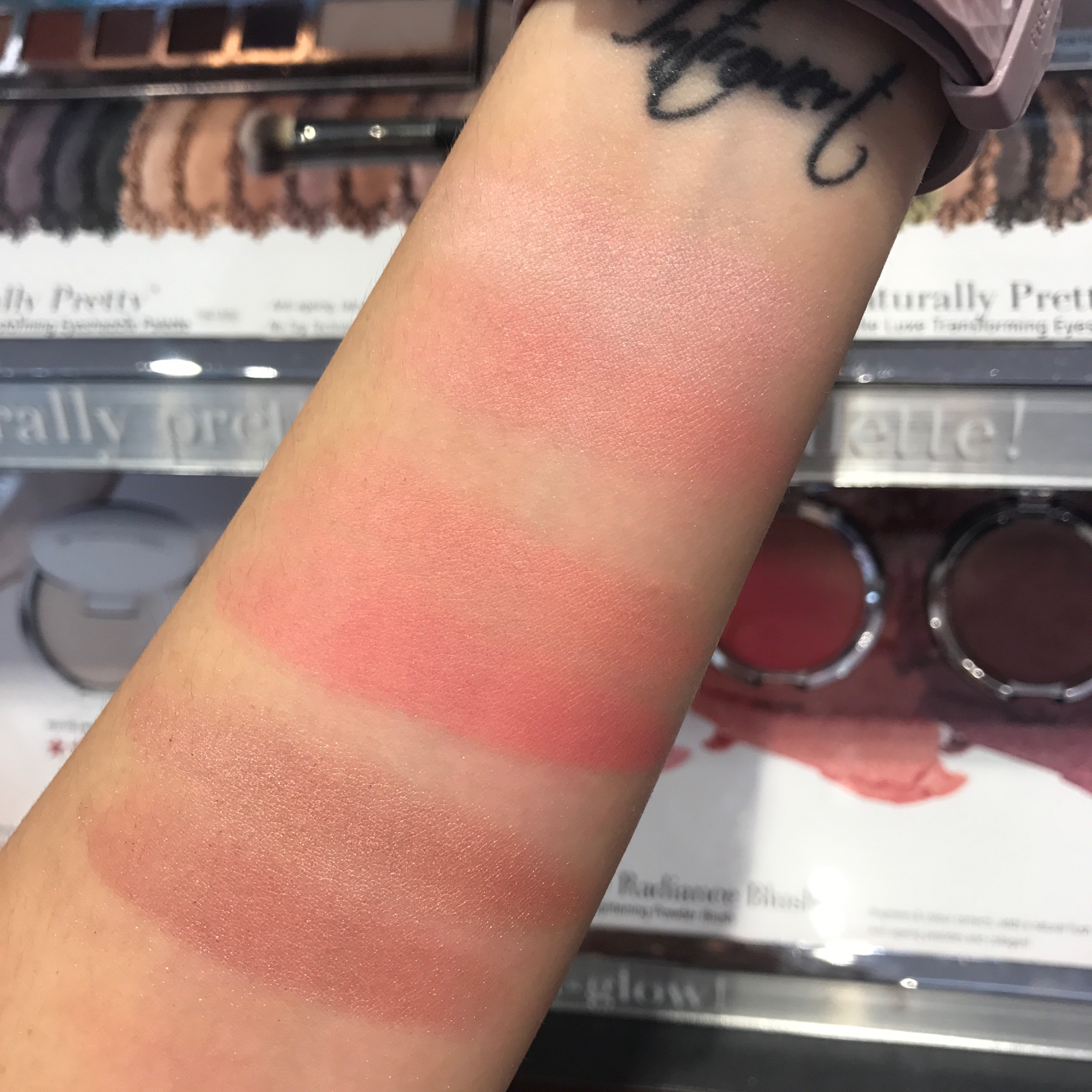 It cosmetics Ombré Radiance Blush swatches