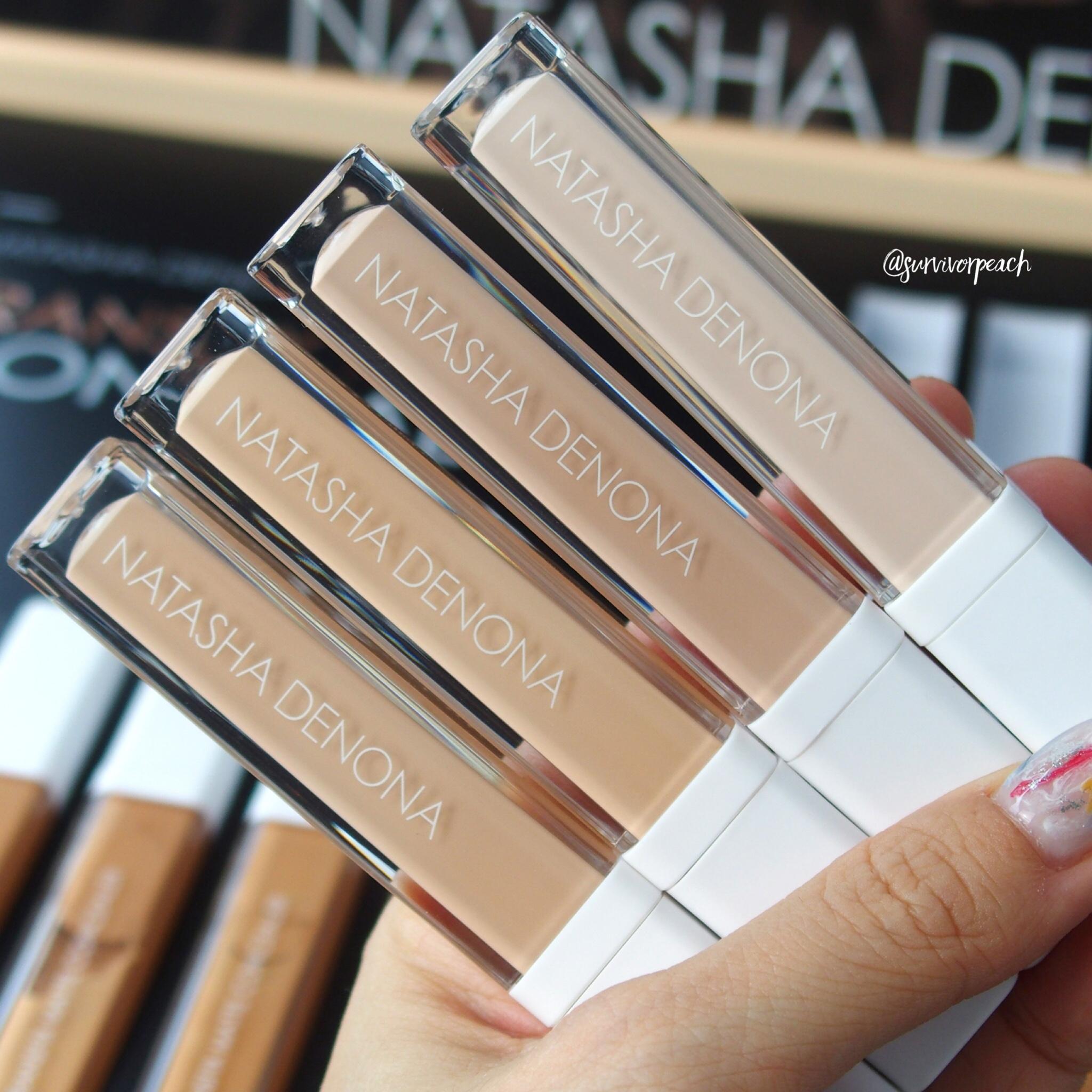 Natasha Denona Transfix Matte Concealer 1N Neutral, 2R Red, 3W Warm, 4N Neutral