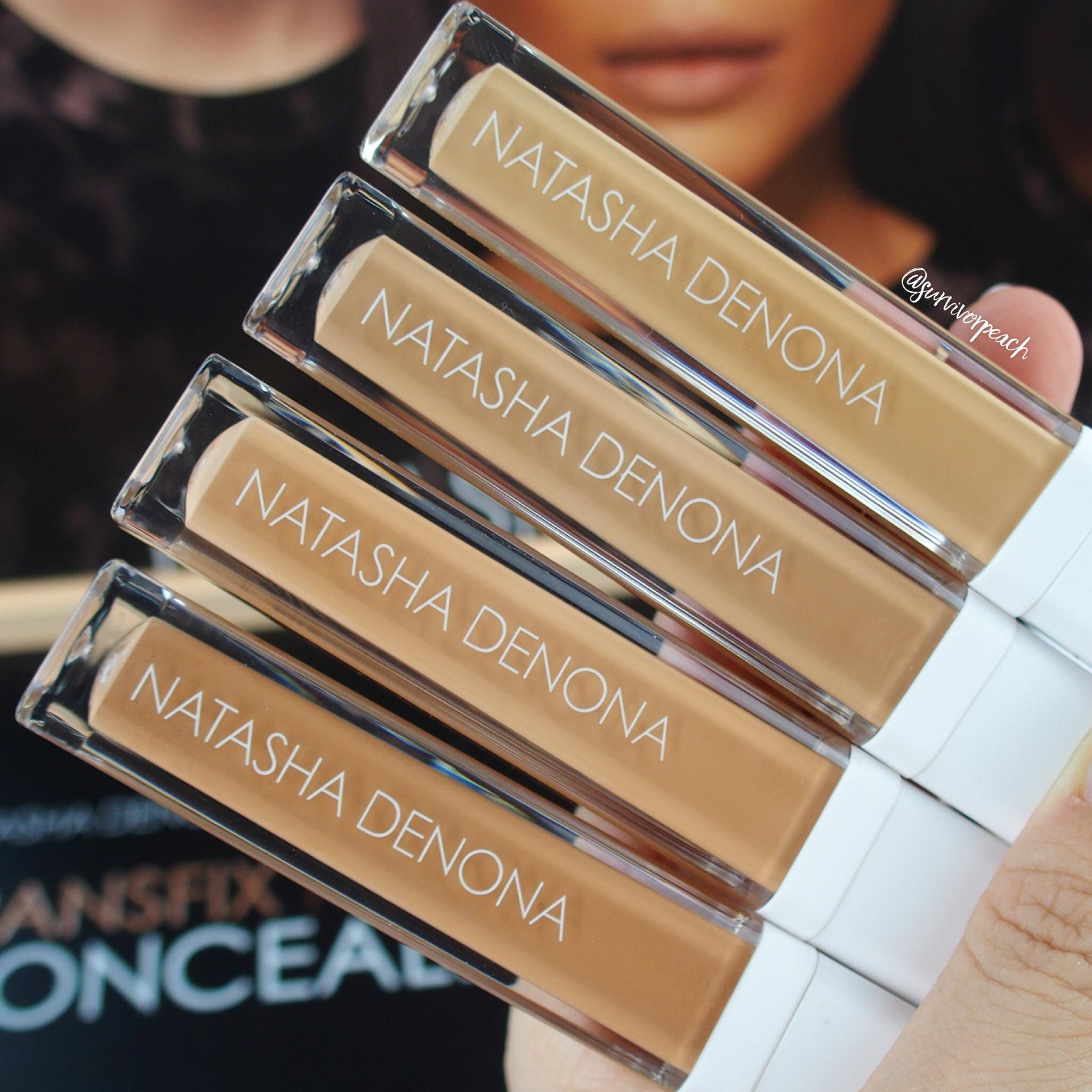 Natasha Denona Transfix Matte Concealers- 9WY Warm Yellow, 10 N Neutral, 11W Warm, 12W Warm