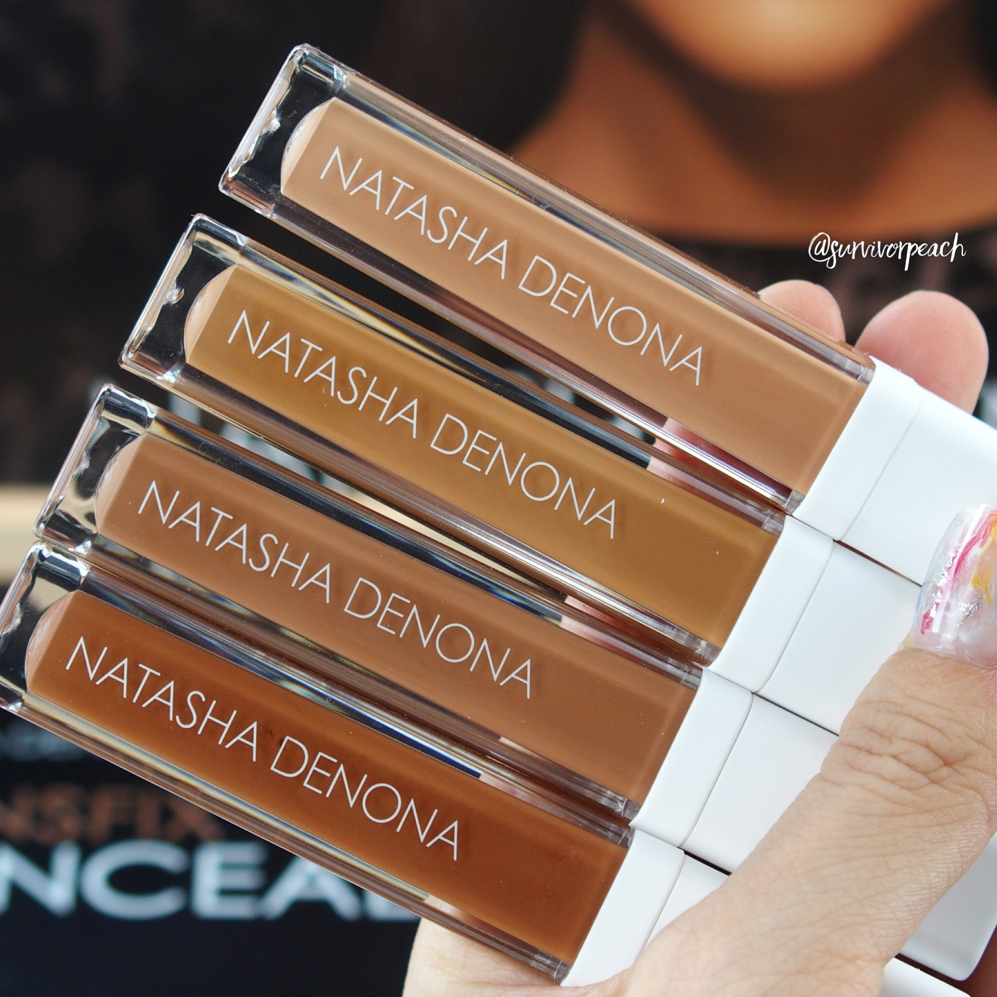 Natasha Denona Transfix Matte Concealers - 18WY Warm Yellow, 19N Neutral, 20W Warm