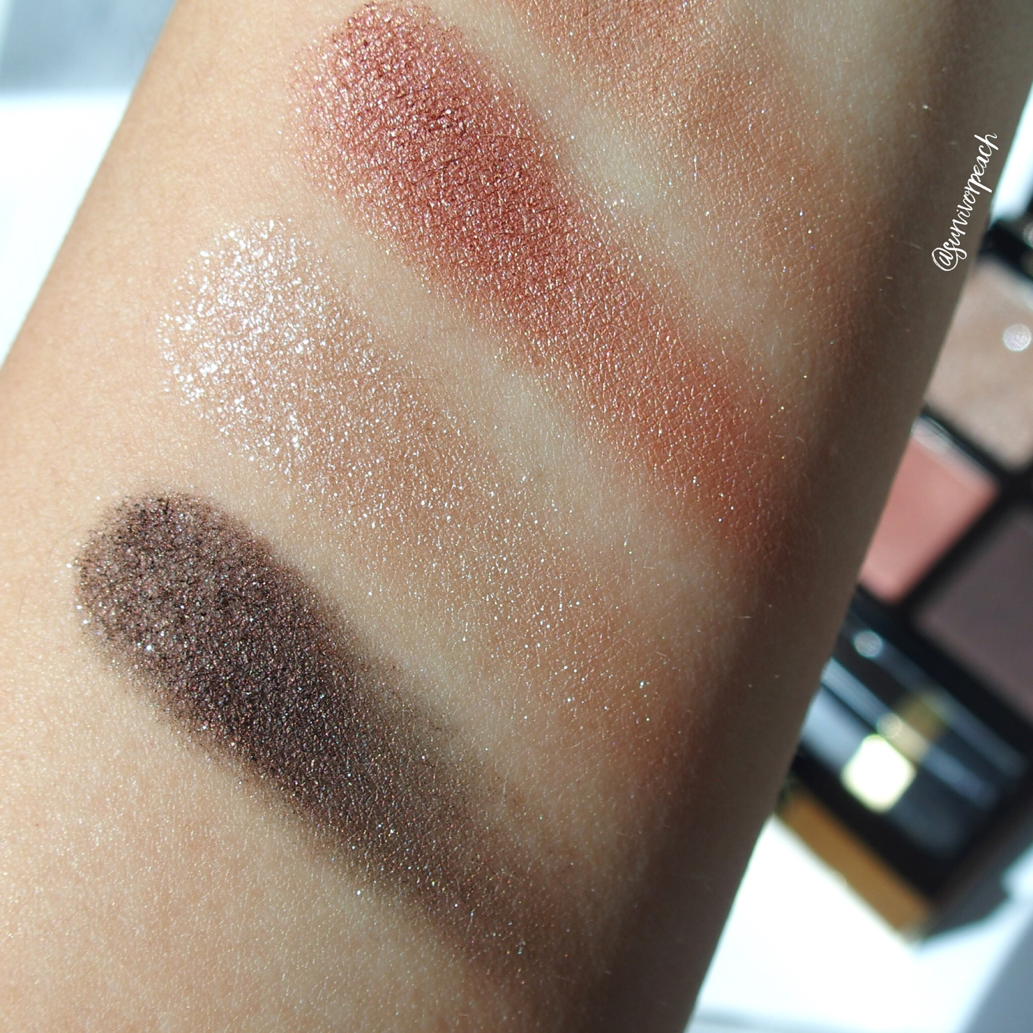 Tomford Beauty Disco Dust Eyeshadow Quad swatches