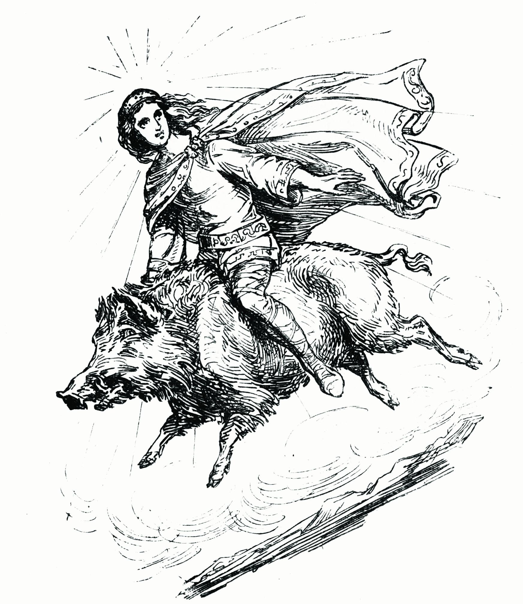 Freyr_riding_Gullinbursti-offwhite.jpg