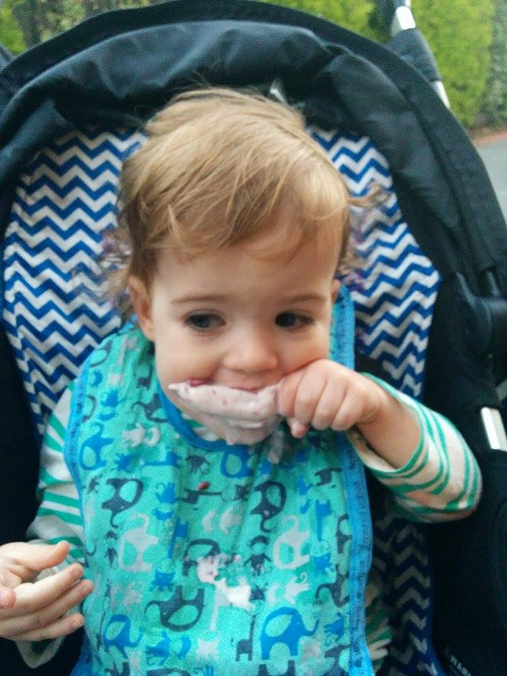 toddler eating ice-cream