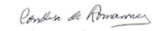 Firma condesa de Romanones