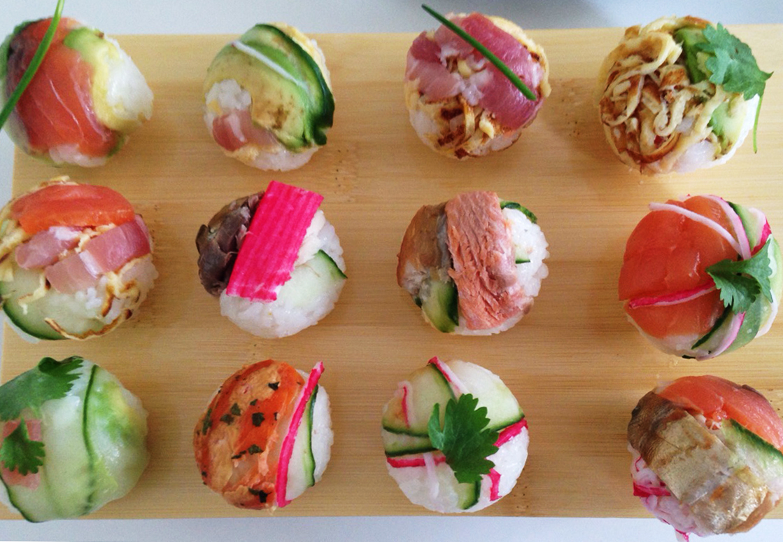 手まり寿司 Temari sushi served at  Honey Michikos