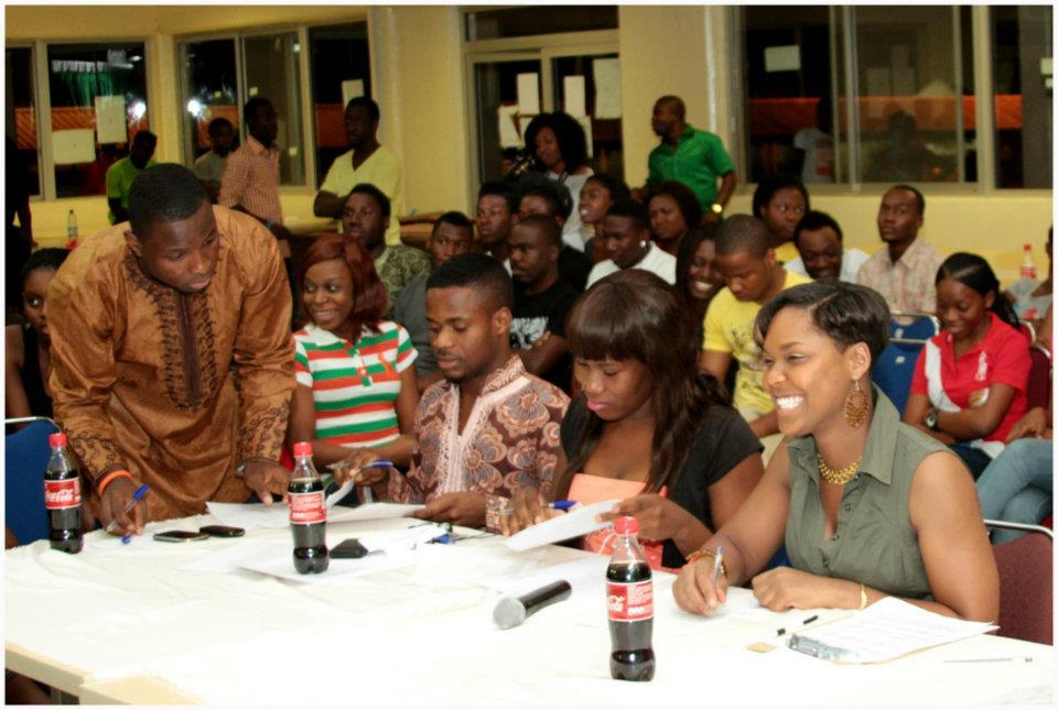 Judging the Poetry Slam at American University of Nigeria