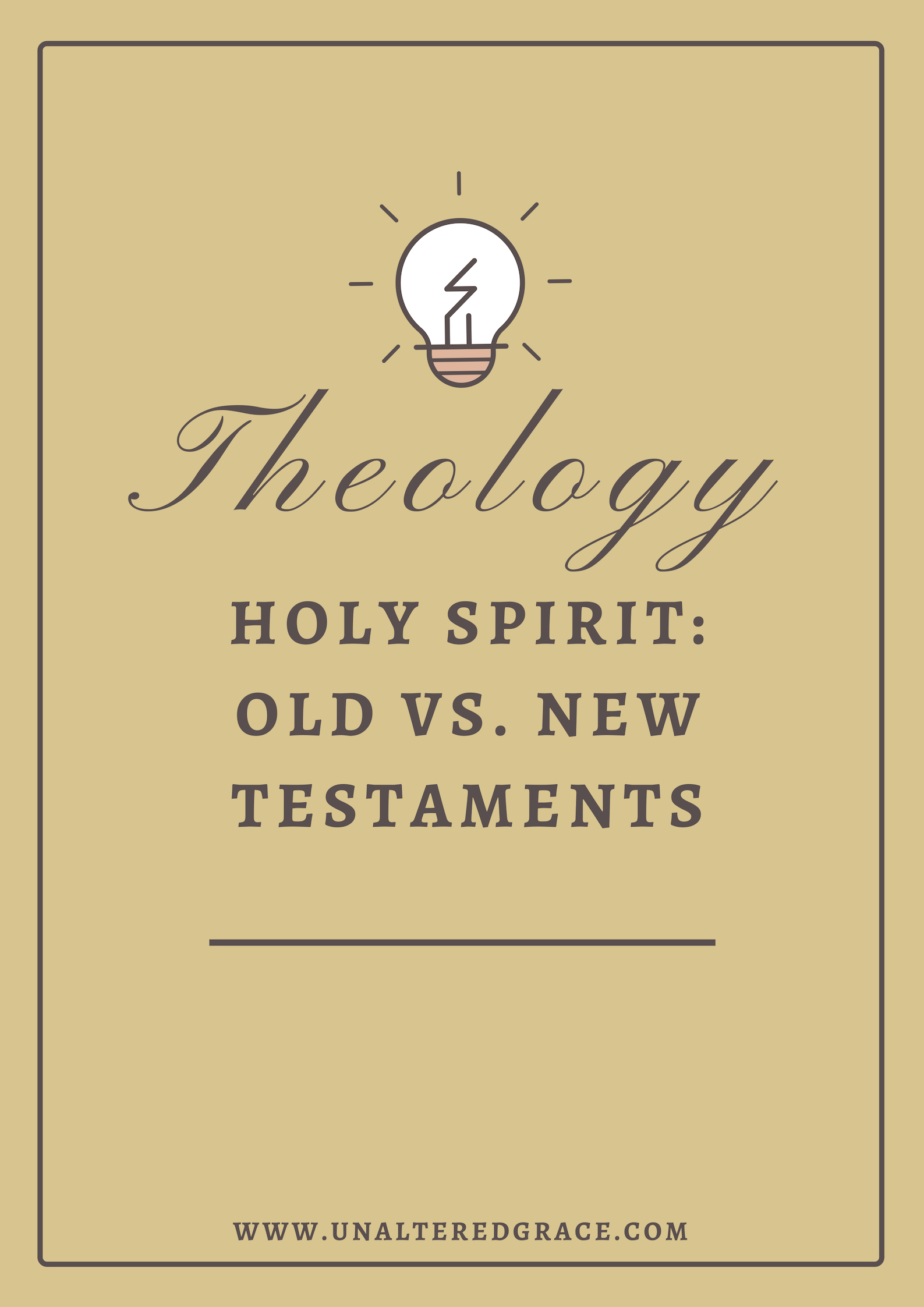 Theology Holy Spirit Old versus New Testament
