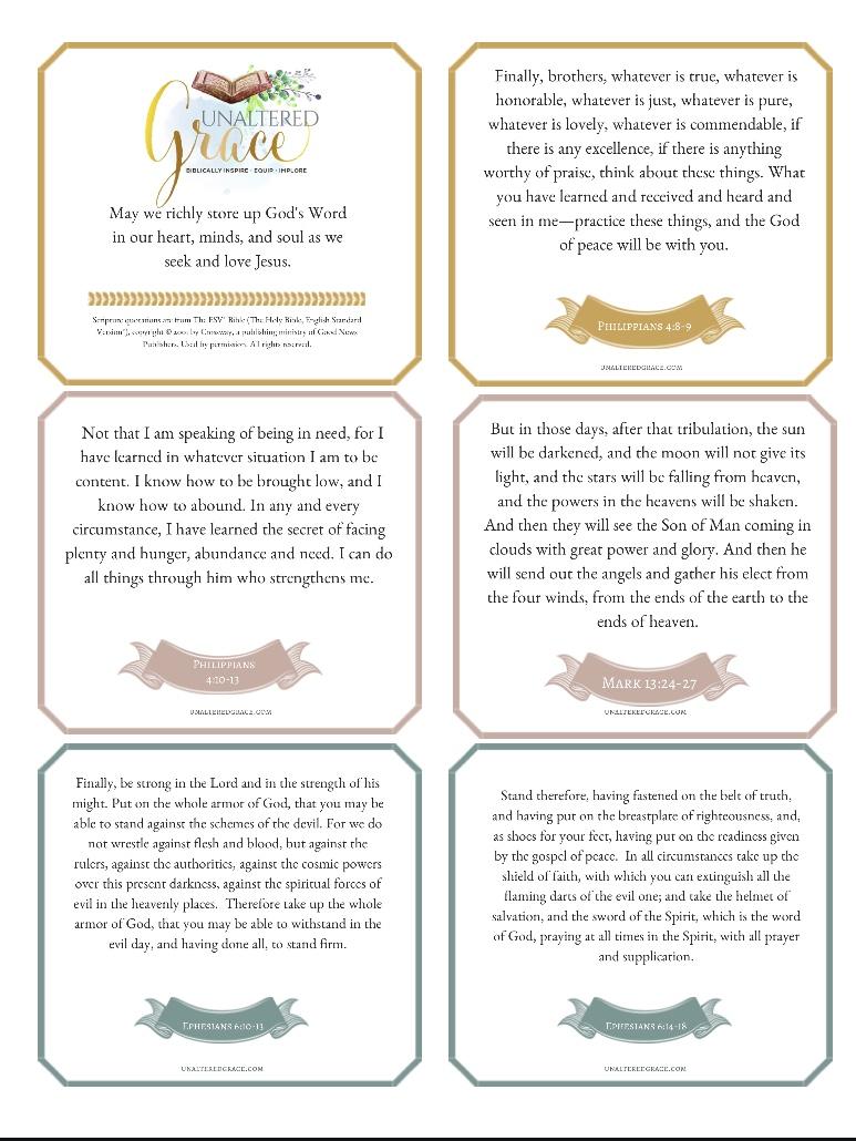 Free Bible Verse Cards