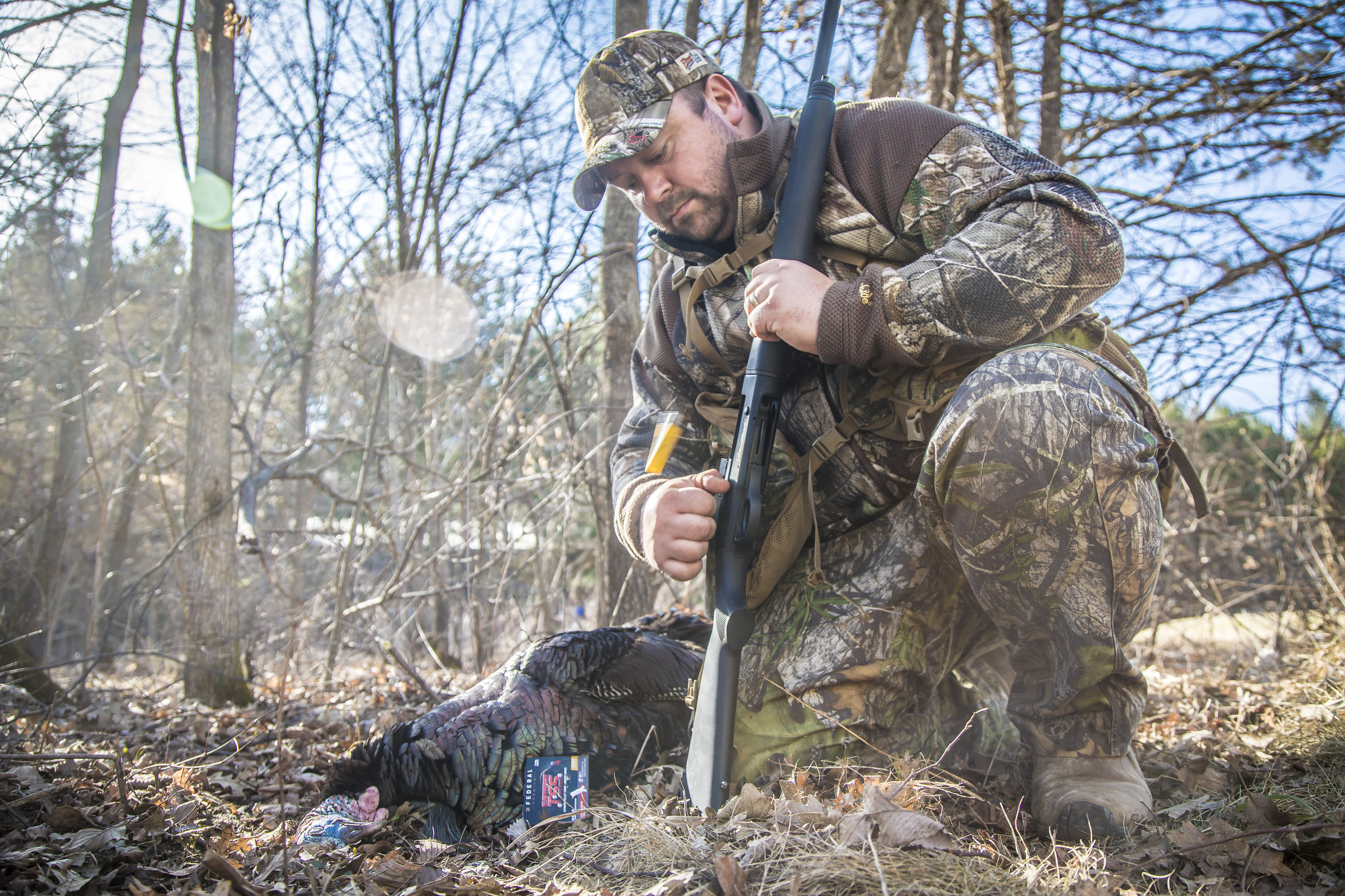 "New heavier-than-lead loads like TSS put more pellets in a 10"" circle at 40 yards than any lead I've ever tested.  Knowing your effective range by patterning and pellet-counting helps settle one of the toughest calls as a turkey hunter you'll ever have to make.    Photo Credit -  Matt Addington Photography"