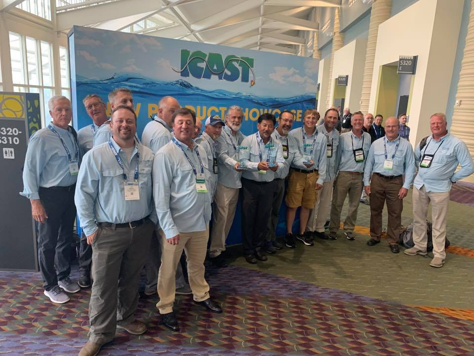 The St. Croix Rods team after another 3-peat Best In Category ICAST awards.