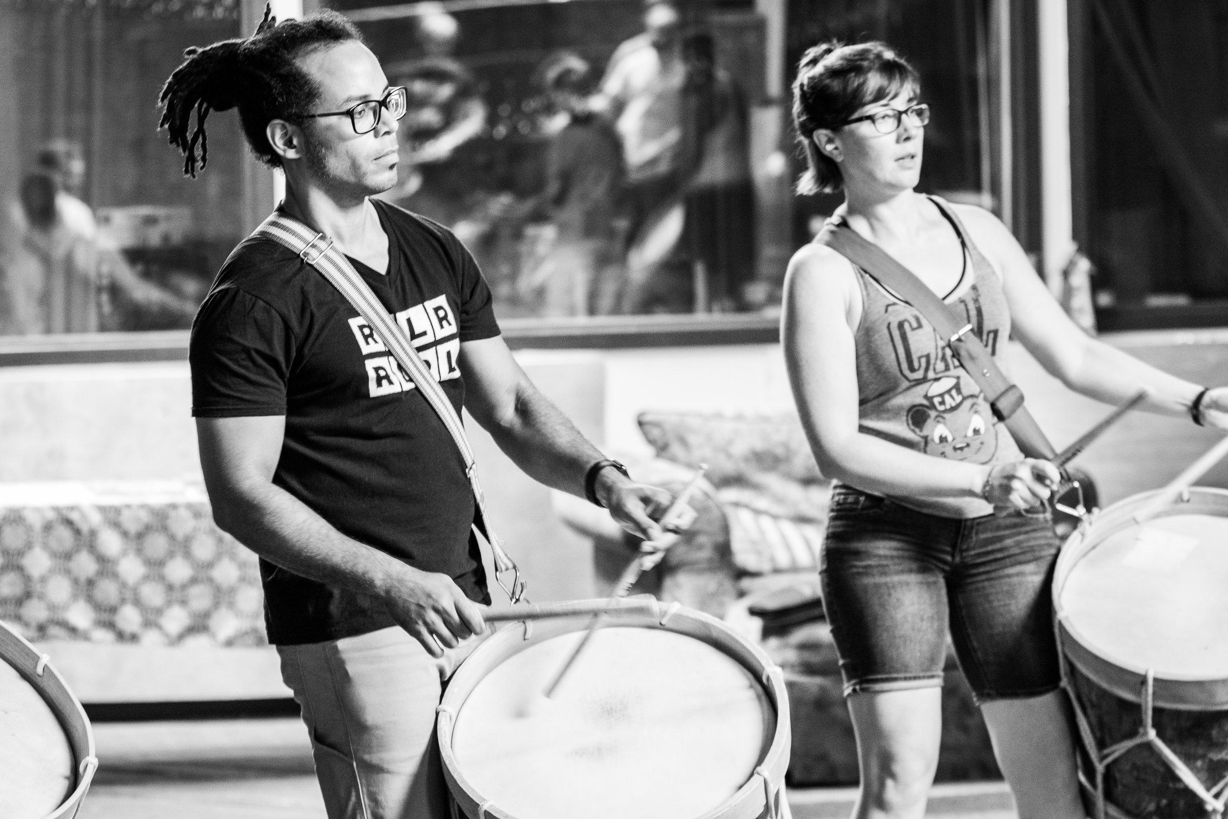 Maracatu Classes. Photo by Matthew Hamilton
