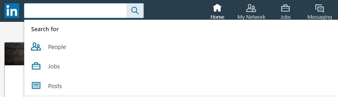 Click inside the empty search box and you'll get a magical dropdown menu!
