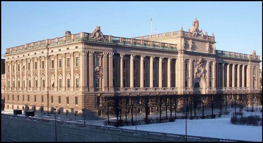 The Riksdag, the Parliament of Sweden (CC-Wikimedia Commons)