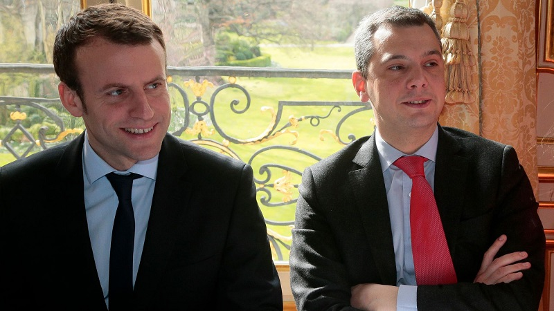 Emmanuel Macron et Alexis Kohler (Crédits : AFP)
