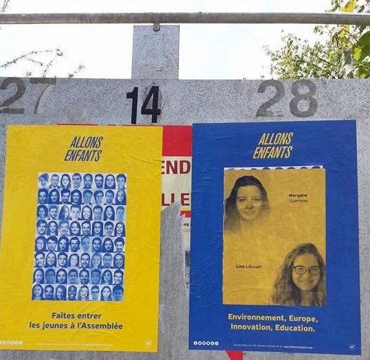 Affiche électorale de Morgane Guerreau (crédit : Morgane Guerreau)