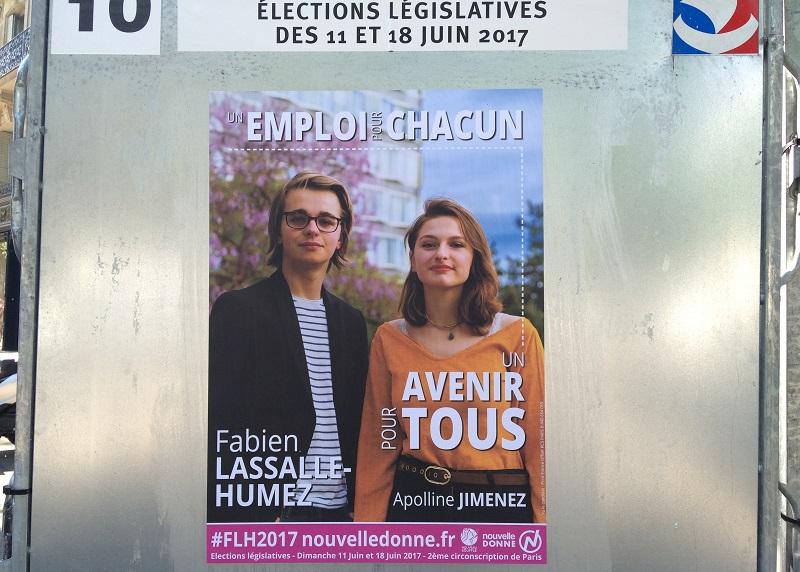 Affiche électorale de Fabien Lassalle-Humez (crédit : Emile magazine/MM)