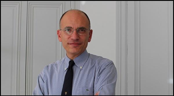 Enrico Letta dans son bureau à Sciences Po (crédits : Sciences Po Alumni)