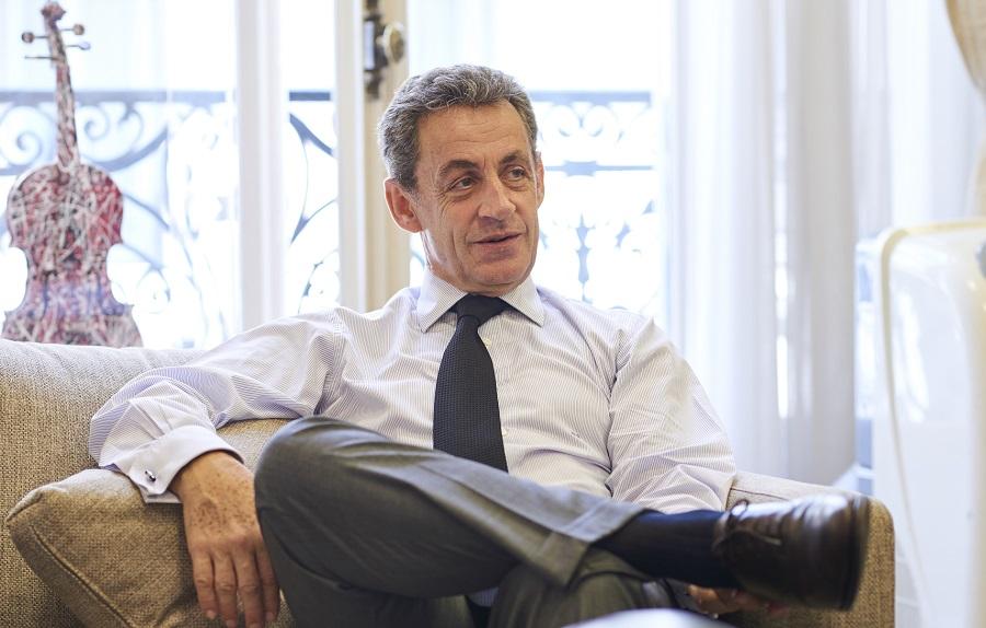 L'ancien président Nicolas Sarkozy interviewé par le magazine Émile.  (Crédits photo : Manuel Braun)