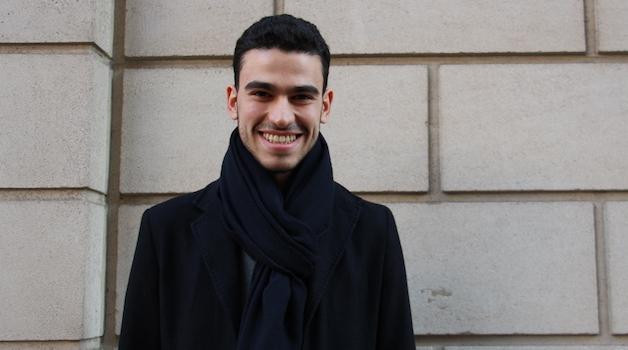 Abdelilah Laloui, étudiant à Sciences Po et fondateur de l'Assemblée des Curieux (Crédits photo: Maïna Marjany)